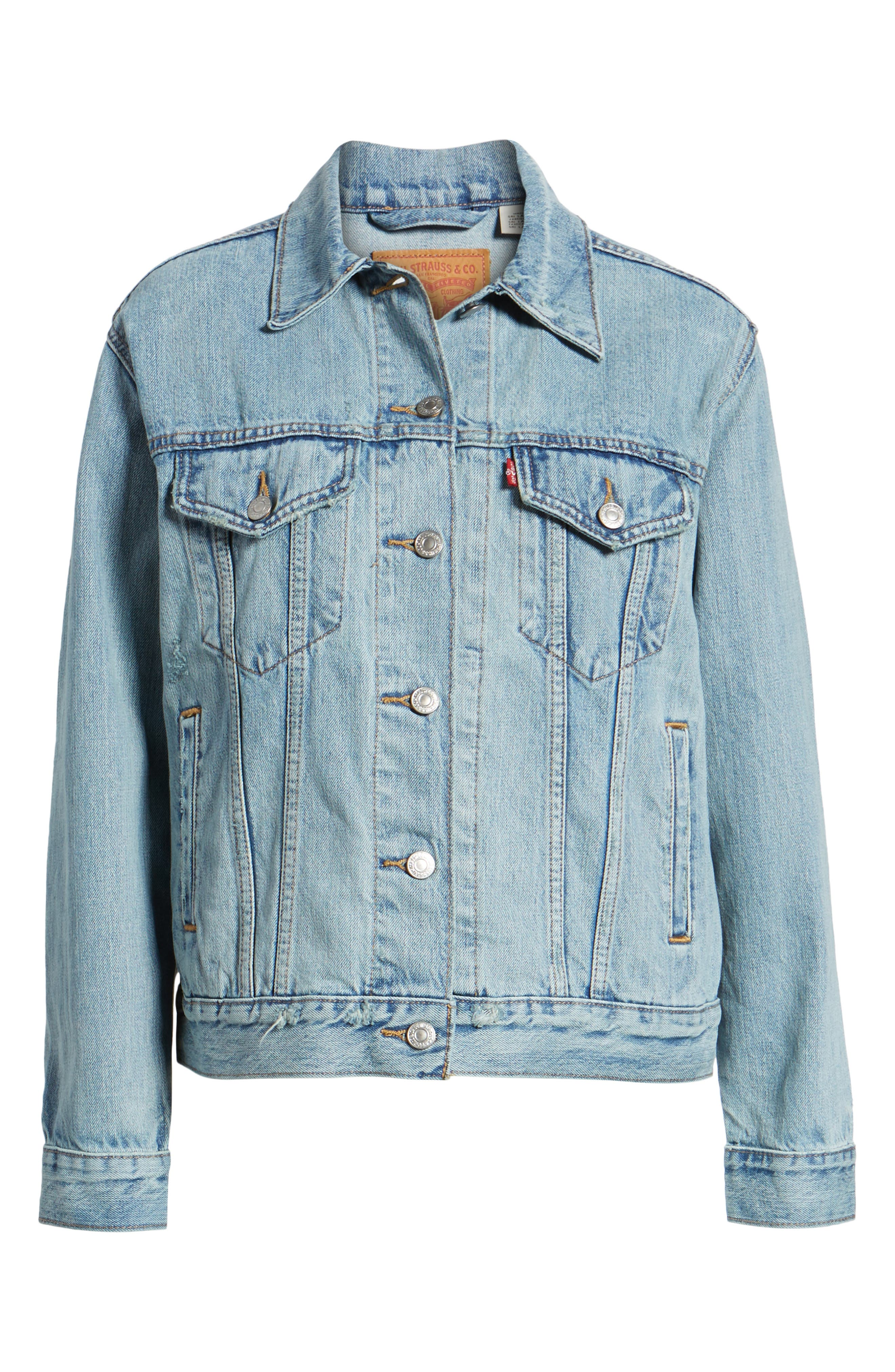 Ex-Boyfriend Trucker Jacket,                             Alternate thumbnail 6, color,                             DREAM OF LIFE