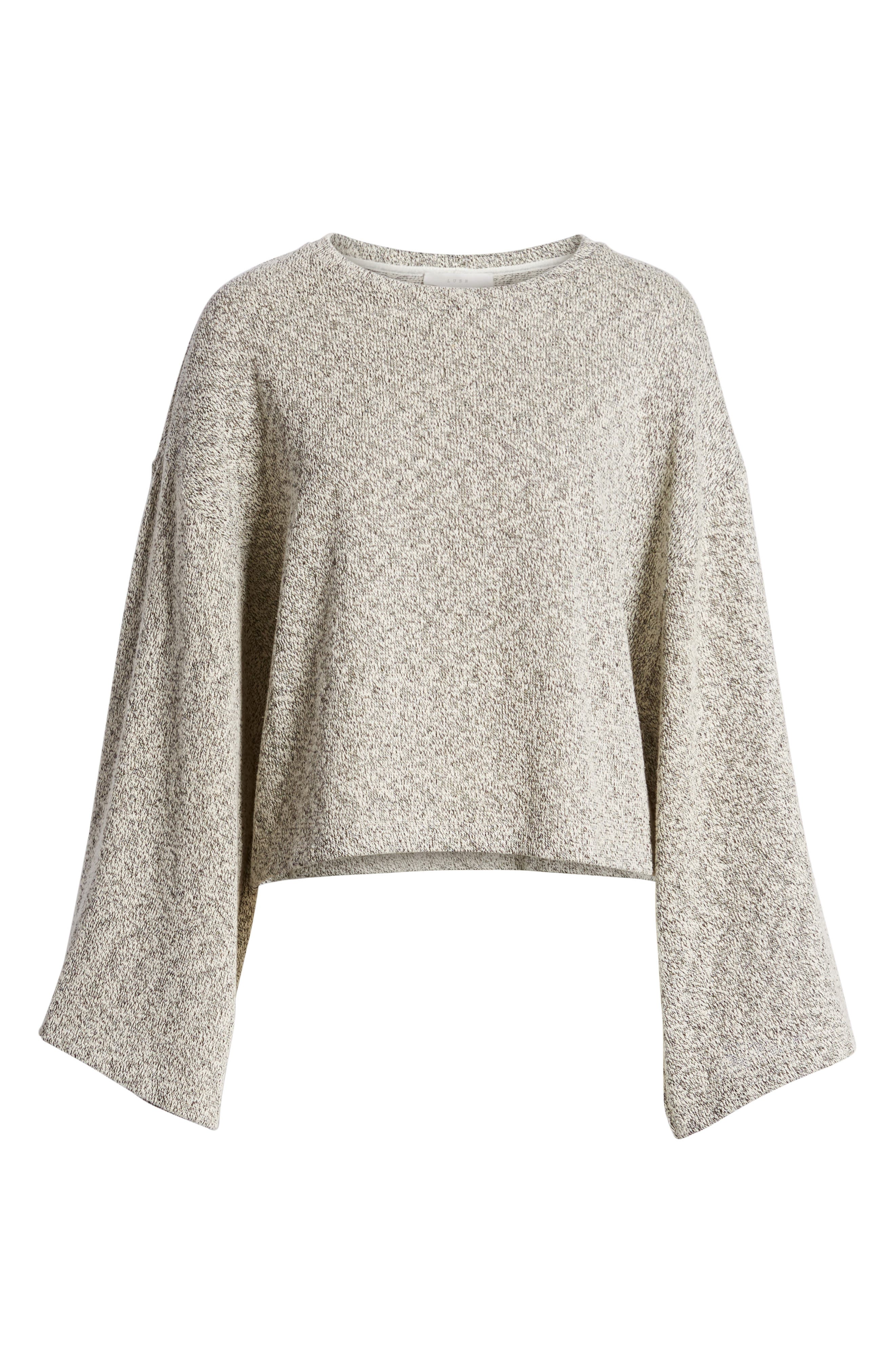 Marled Bell Sleeve Sweater,                             Alternate thumbnail 6, color,                             020