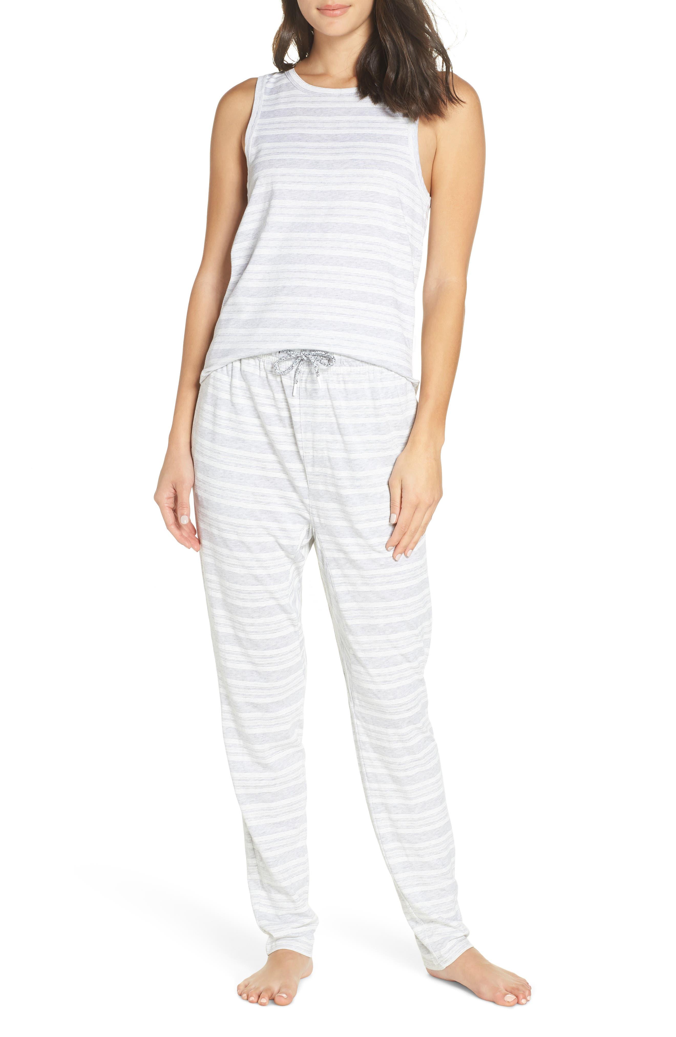 Alice Pajama Pants,                             Alternate thumbnail 7, color,                             LOLLY STRIPE WHITE