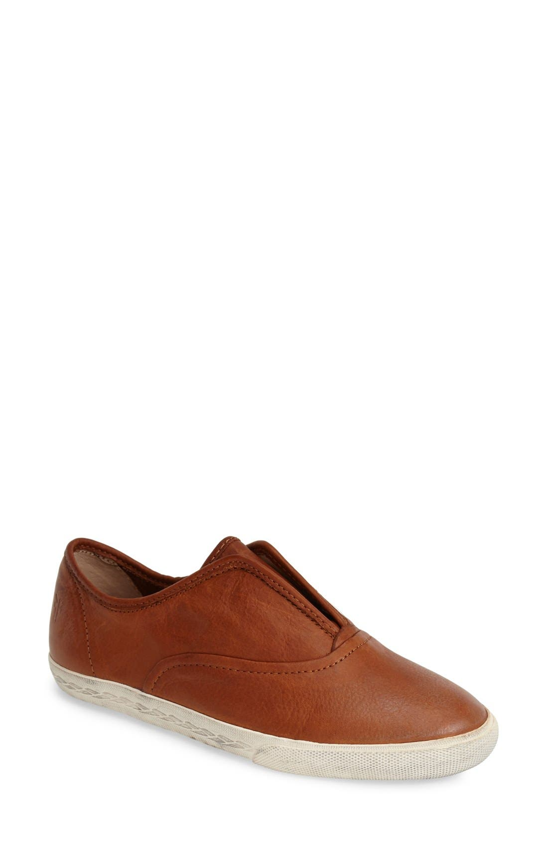 'Mindy' Slip-On Leather Sneaker,                             Main thumbnail 6, color,