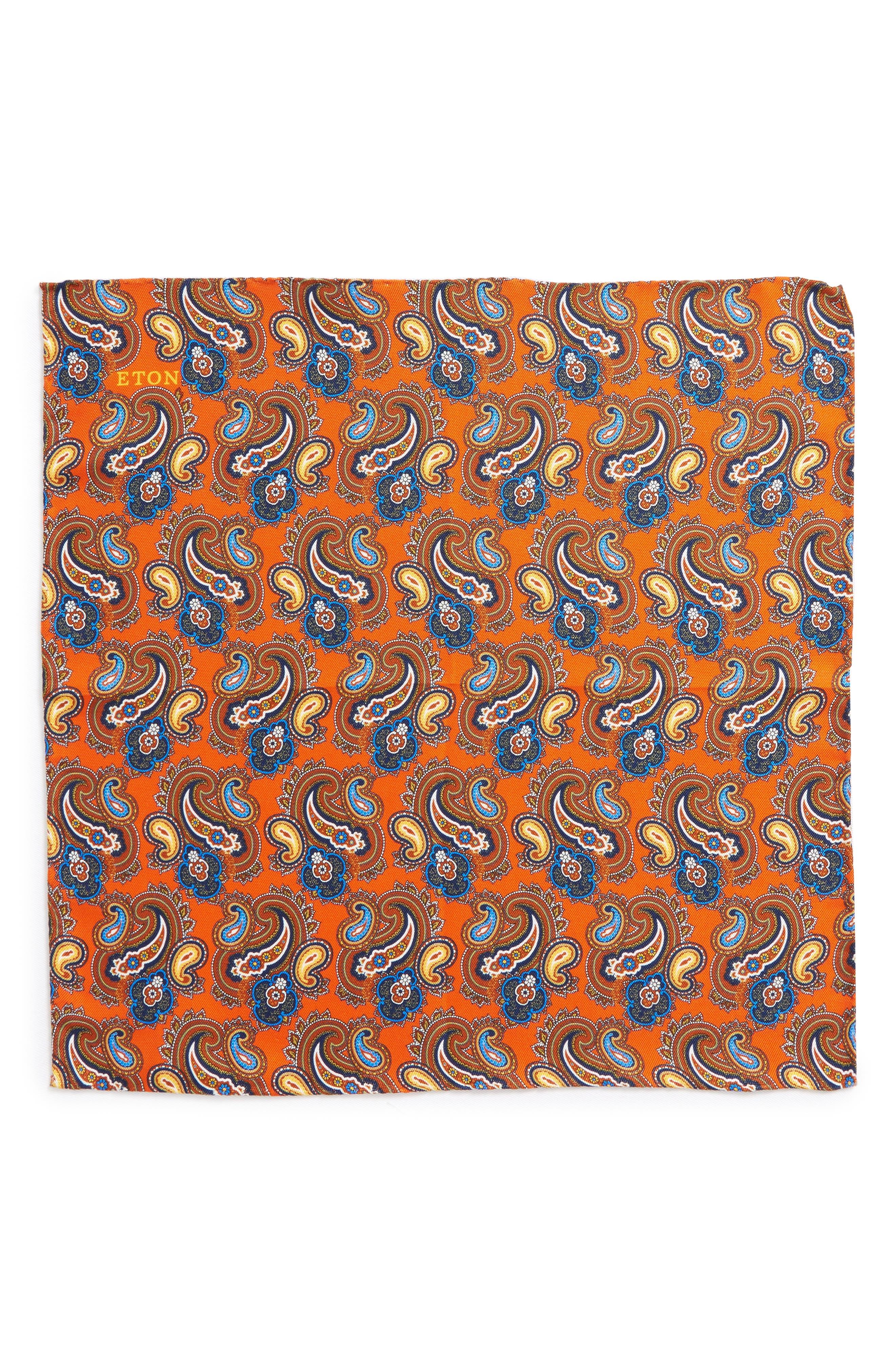 Print Silk Pocket Square,                             Alternate thumbnail 6, color,