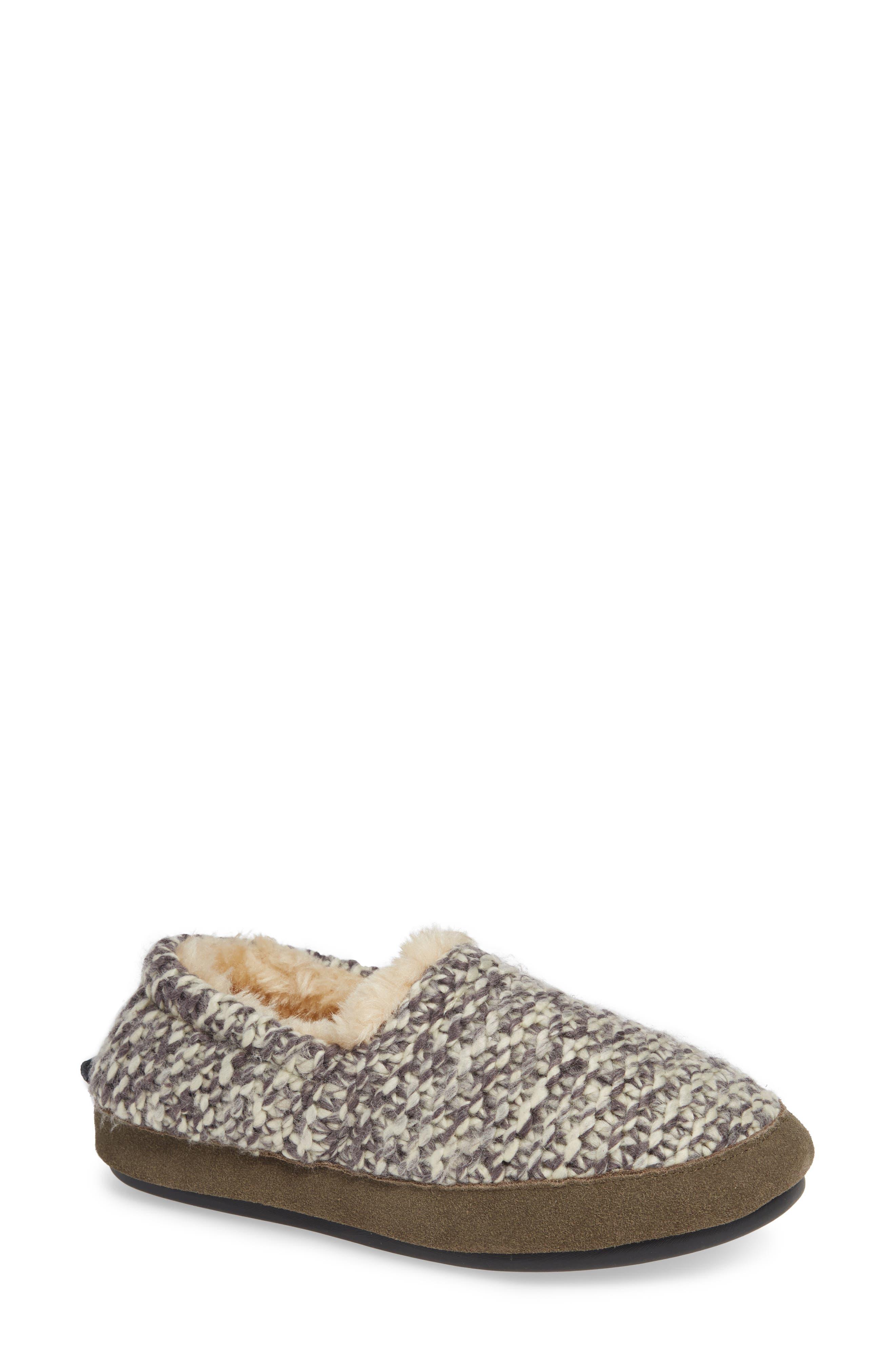 Whitecap Knit Slipper,                             Main thumbnail 1, color,                             WARM NEUTRAL FABRIC