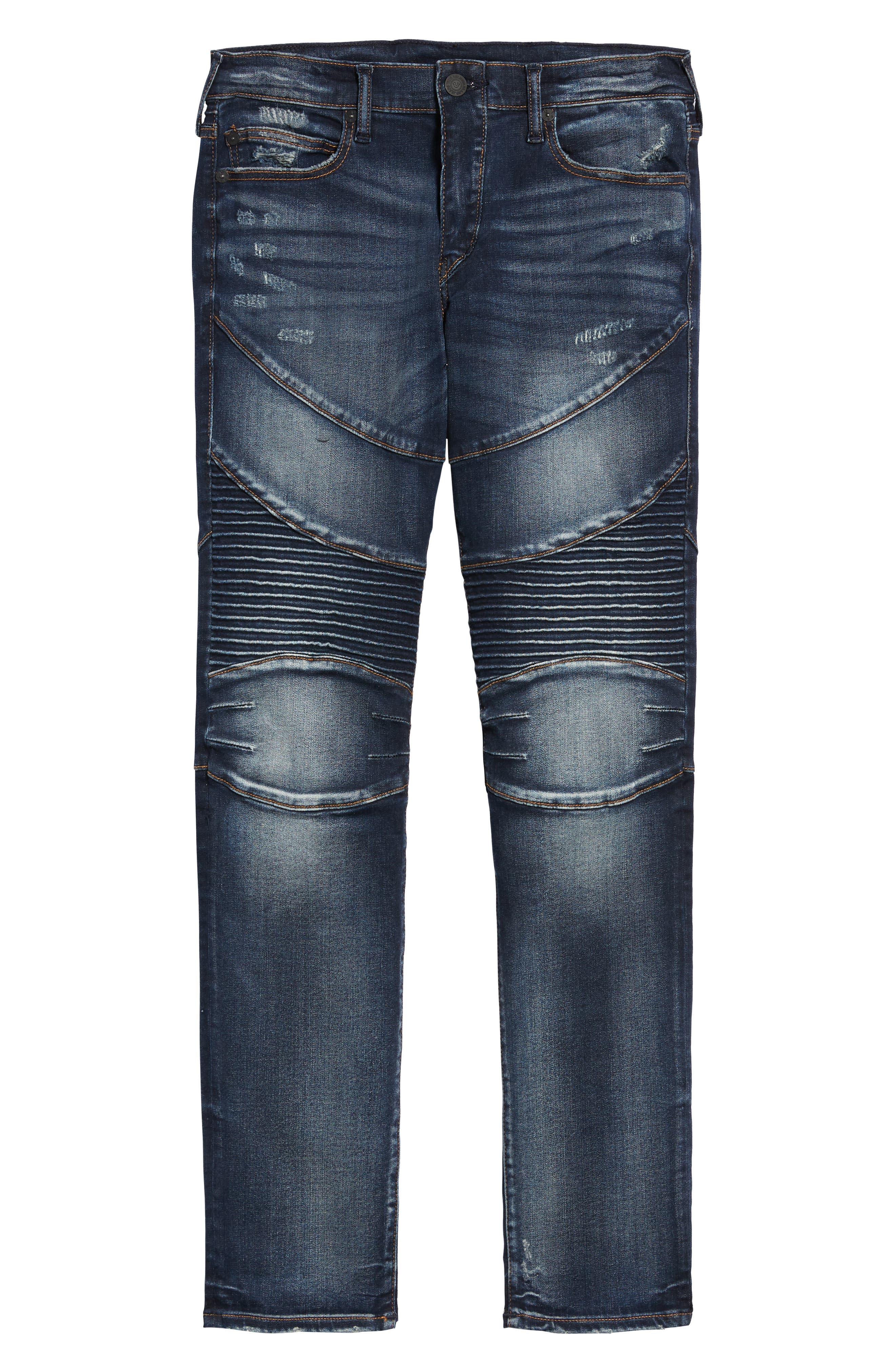 Rocco Skinny Fit Moto Jeans,                             Alternate thumbnail 6, color,                             MINERAL ASPHALT