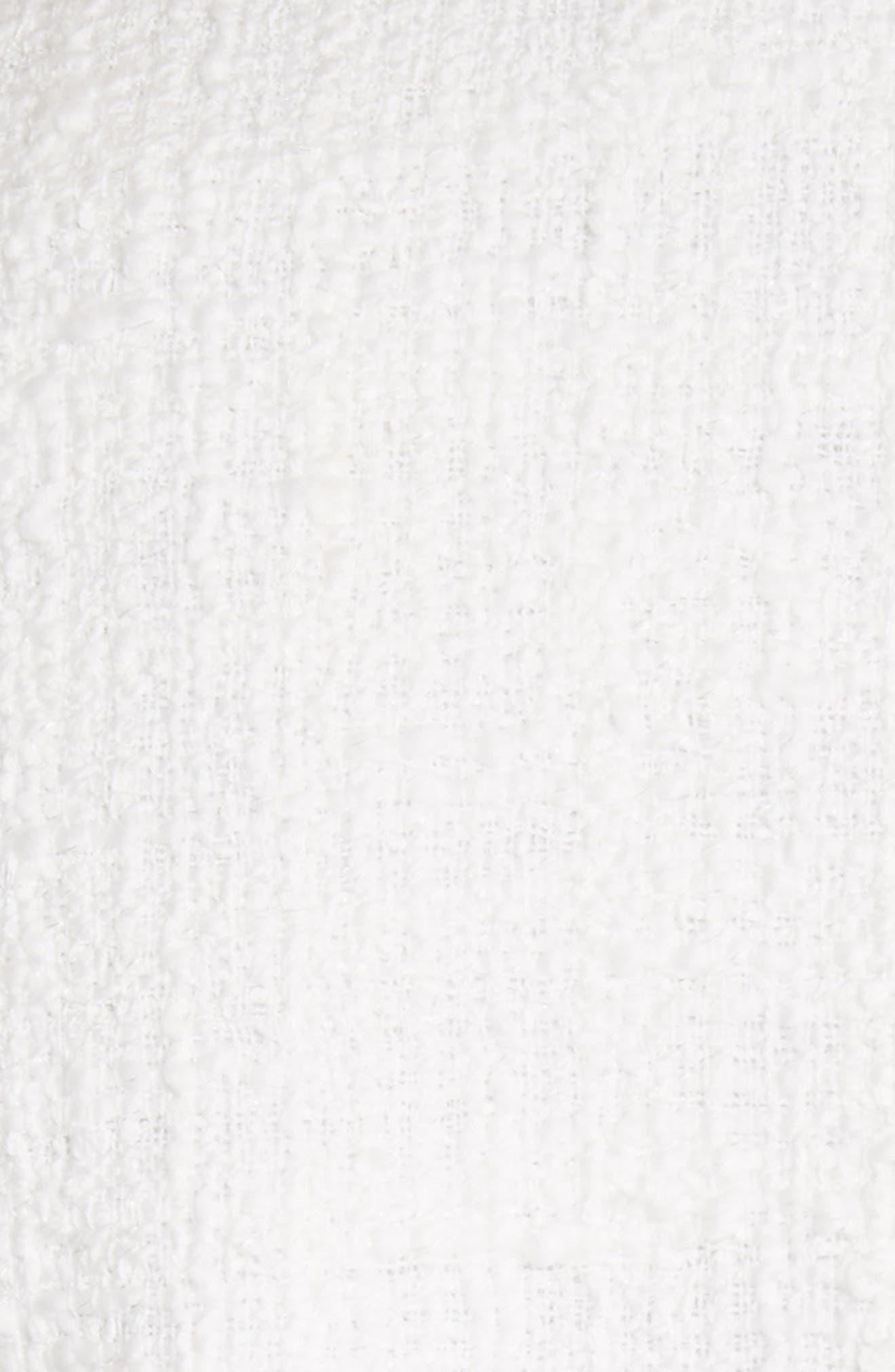 Ribbon Tweed Cascade Cuff Jacket,                             Alternate thumbnail 6, color,                             901