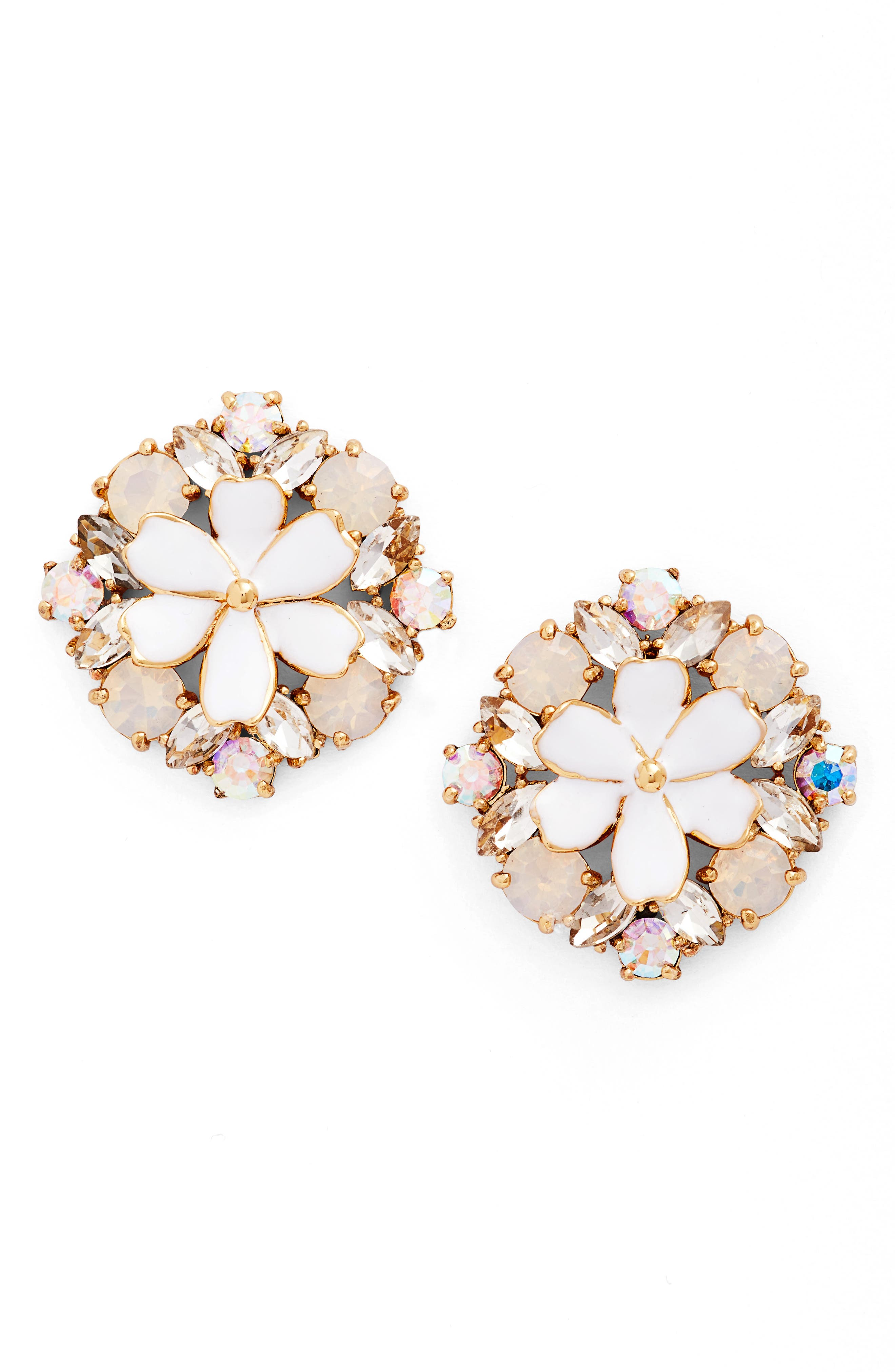 here comes the sun crystal stud earrings,                             Main thumbnail 1, color,