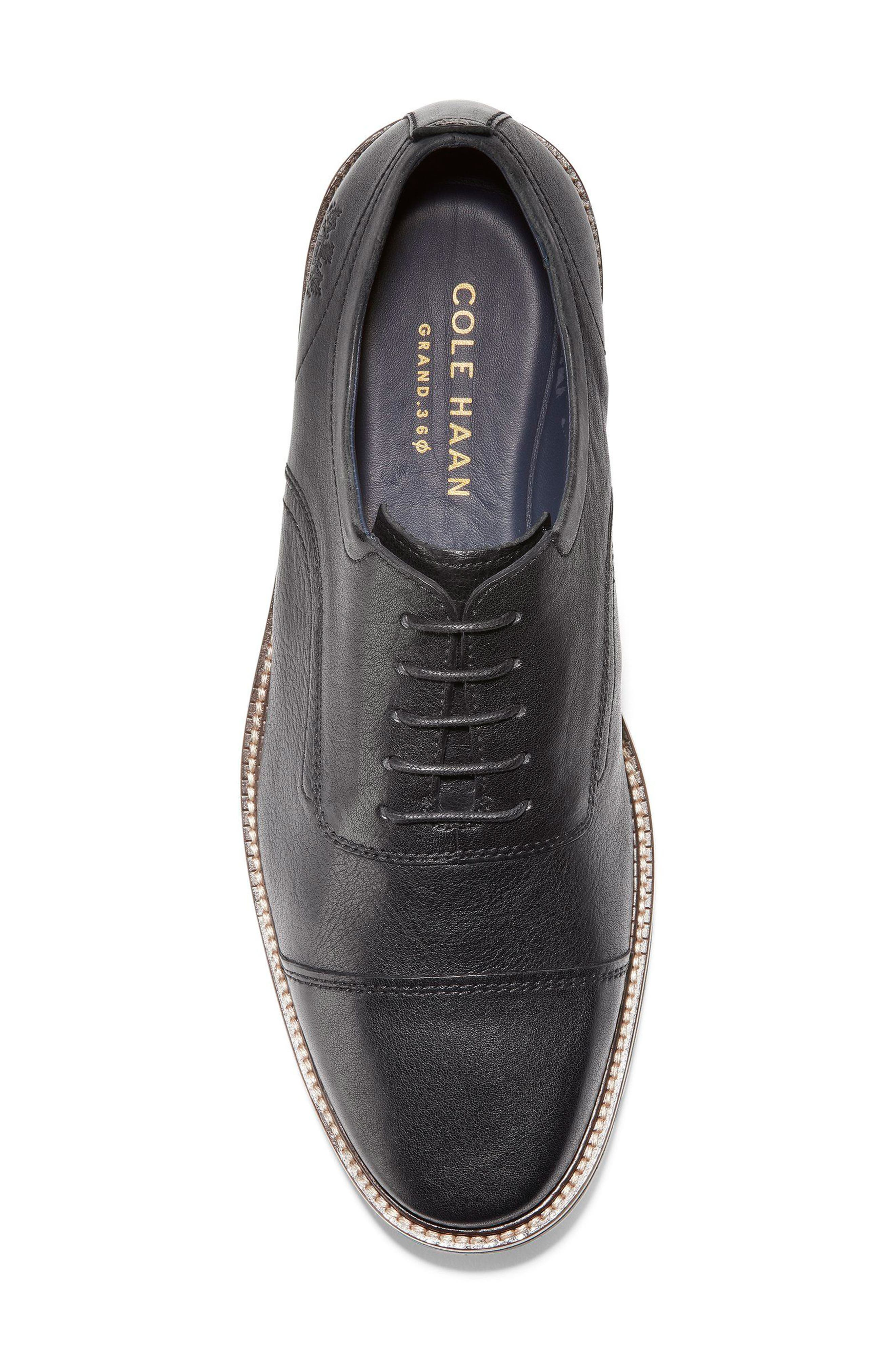 Richardson Cap Toe Derby,                             Alternate thumbnail 5, color,                             BLACK LEATHER