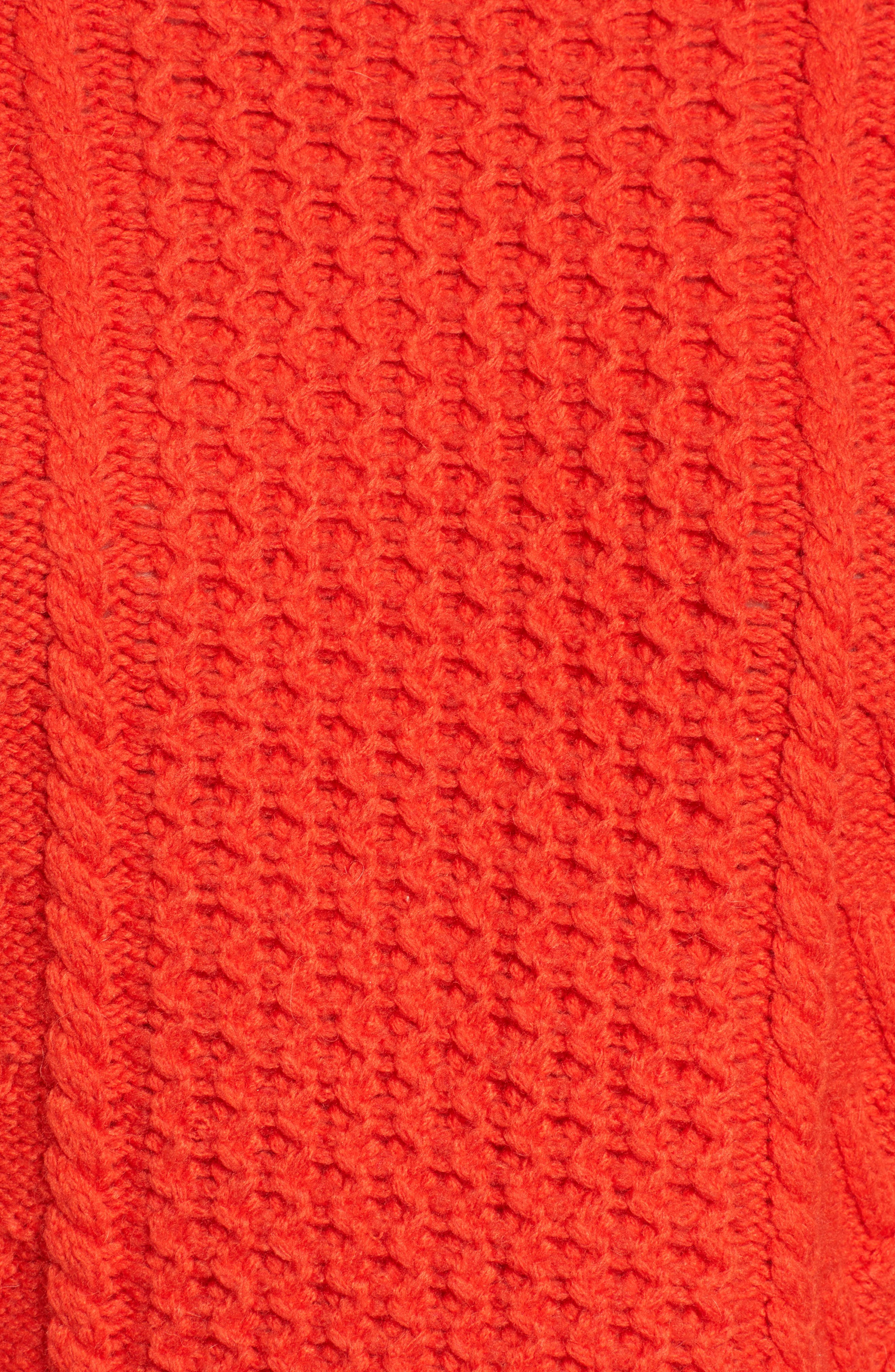 Cable Knit Pullover Sweater,                             Alternate thumbnail 8, color,