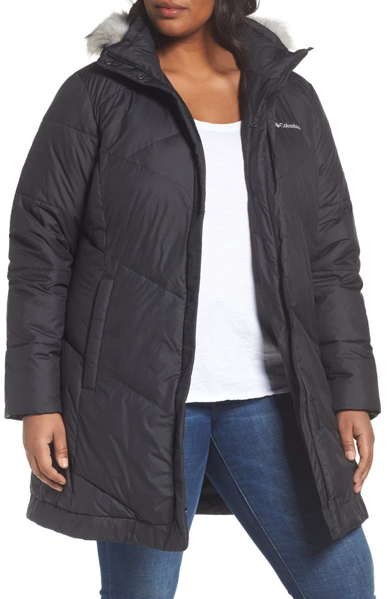 6976467fe96 COLUMBIA Snow Eclipse Water Resistant Insulated Jacket with Faux Fur Trim