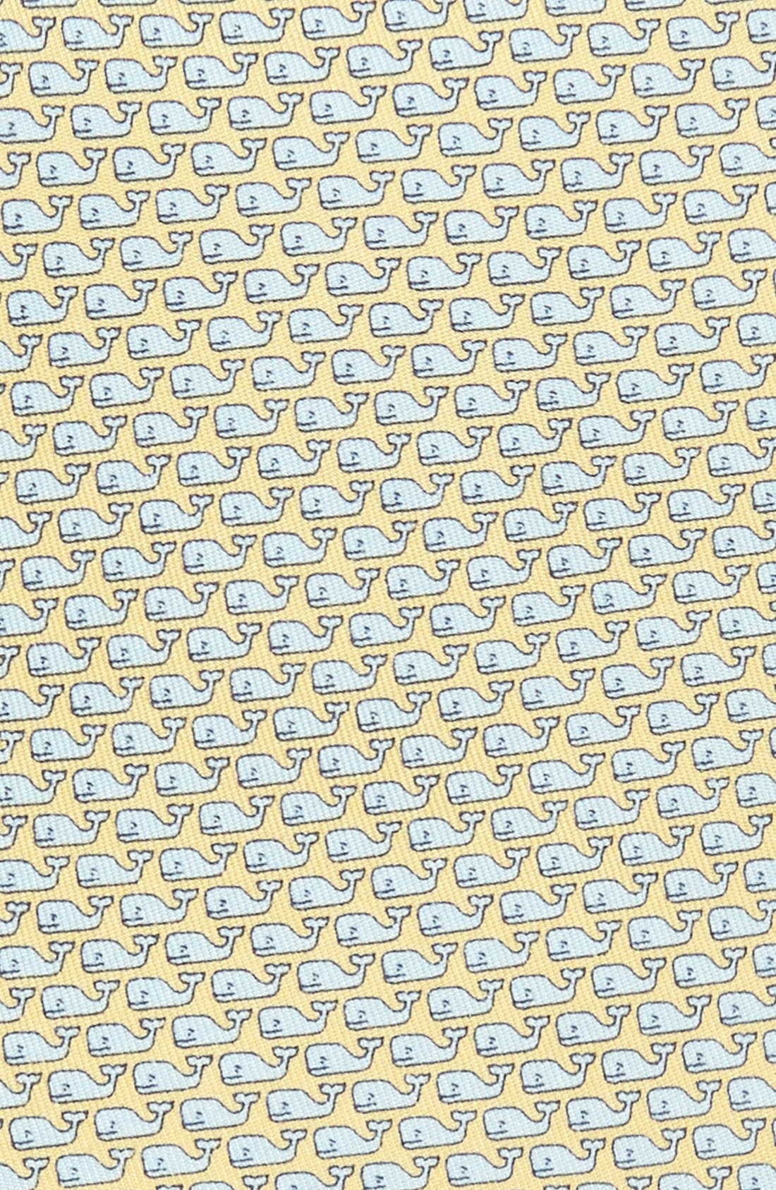 Whale Silk Tie,                             Alternate thumbnail 2, color,                             YELLOW