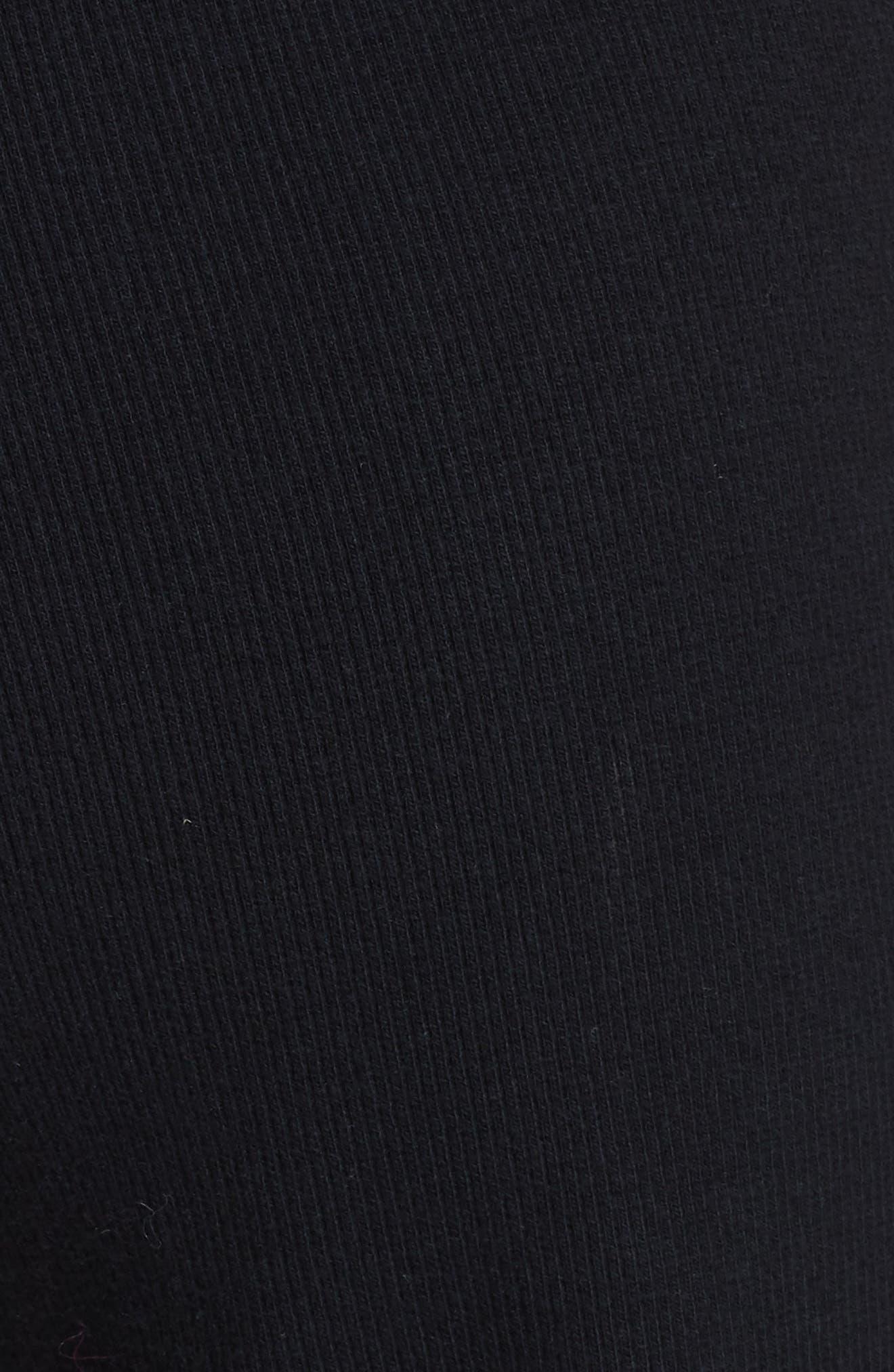 Wide Leg Rib Pants,                             Alternate thumbnail 5, color,                             BLACK