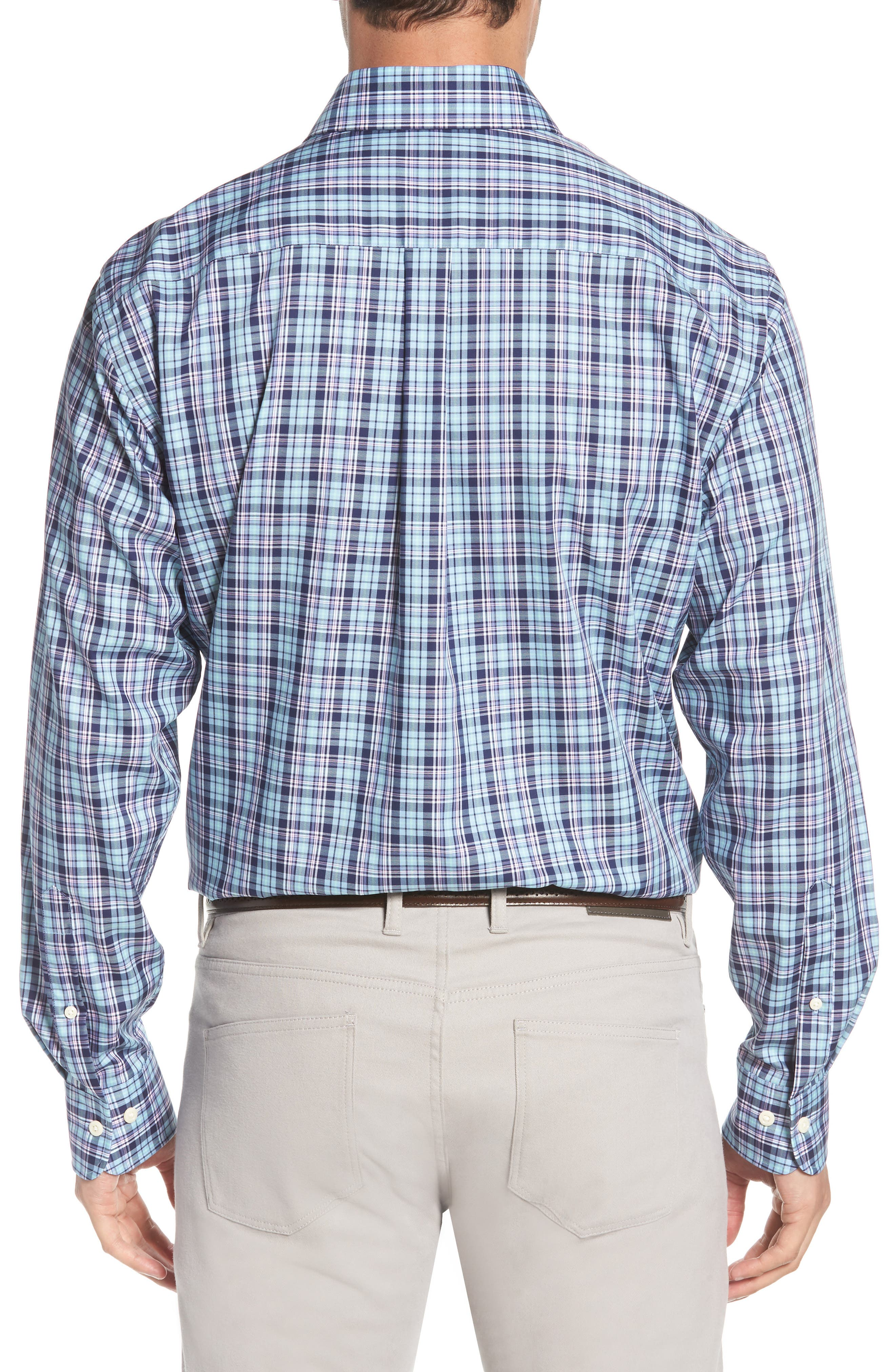 Crown Ease Laguna Plaid Sport Shirt,                             Alternate thumbnail 2, color,                             453