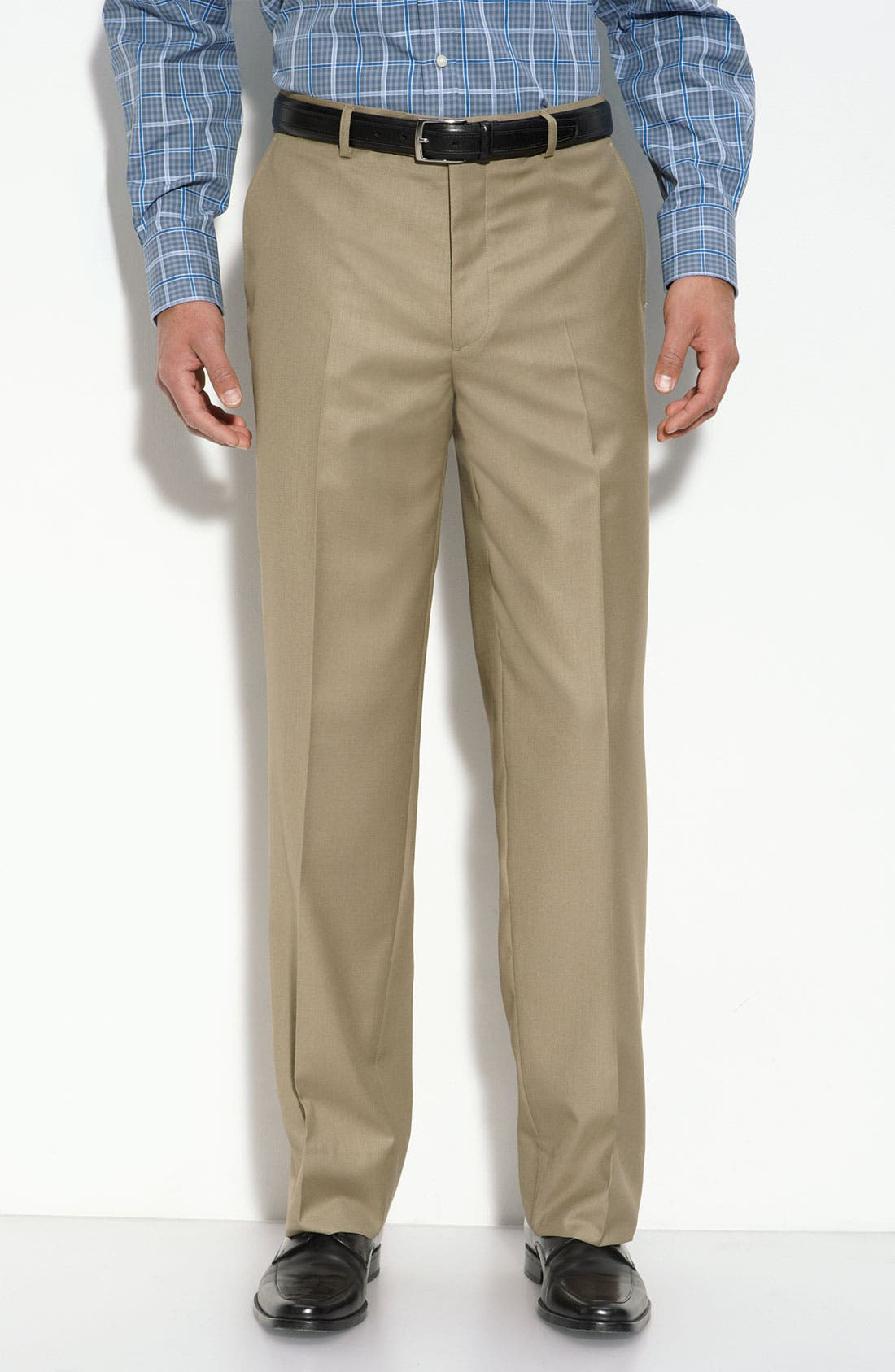 'Travel Genius - Hawk' Flat Front Pants,                             Main thumbnail 6, color,
