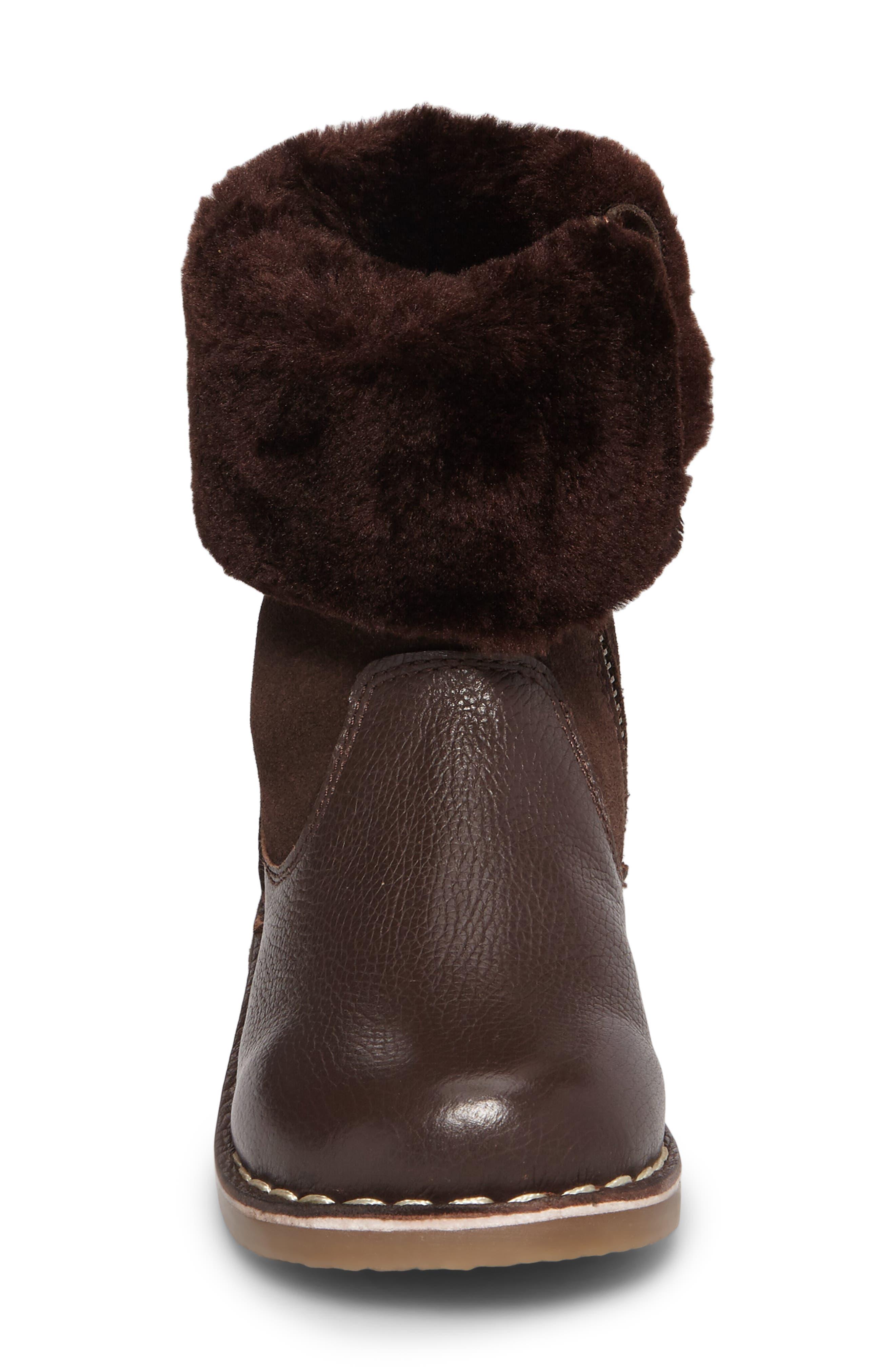 Faux Fur Cuffed Boot,                             Alternate thumbnail 4, color,                             204