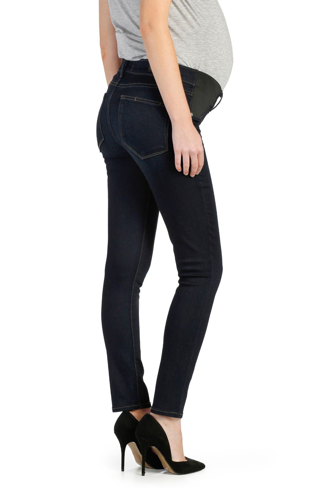 Transcend - Verdugo Ankle Skinny Maternity Jeans,                             Alternate thumbnail 2, color,                             MONA