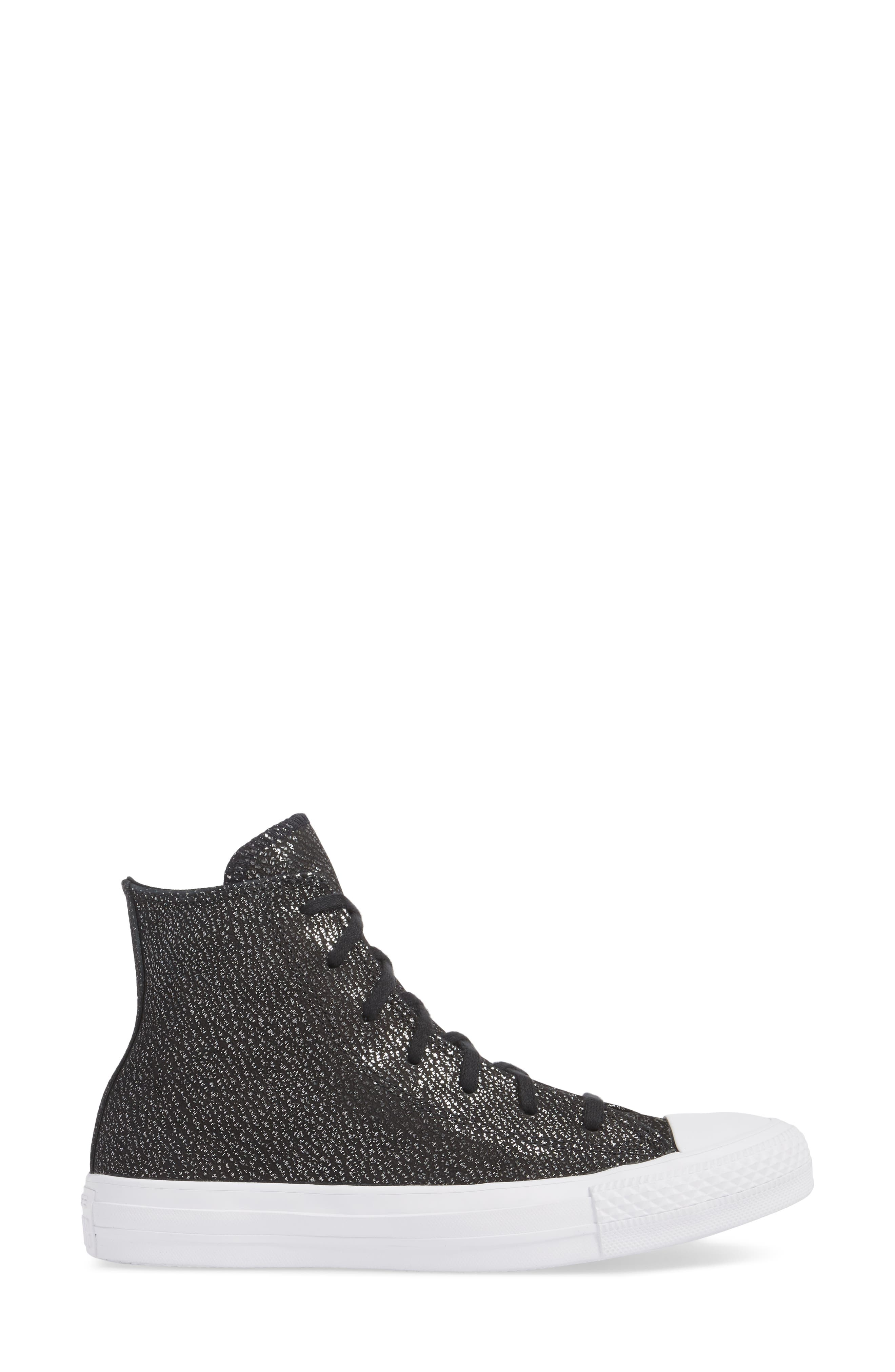Chuck Taylor<sup>®</sup> All Star<sup>®</sup> Tipped Metallic High Top Sneaker,                             Alternate thumbnail 6, color,