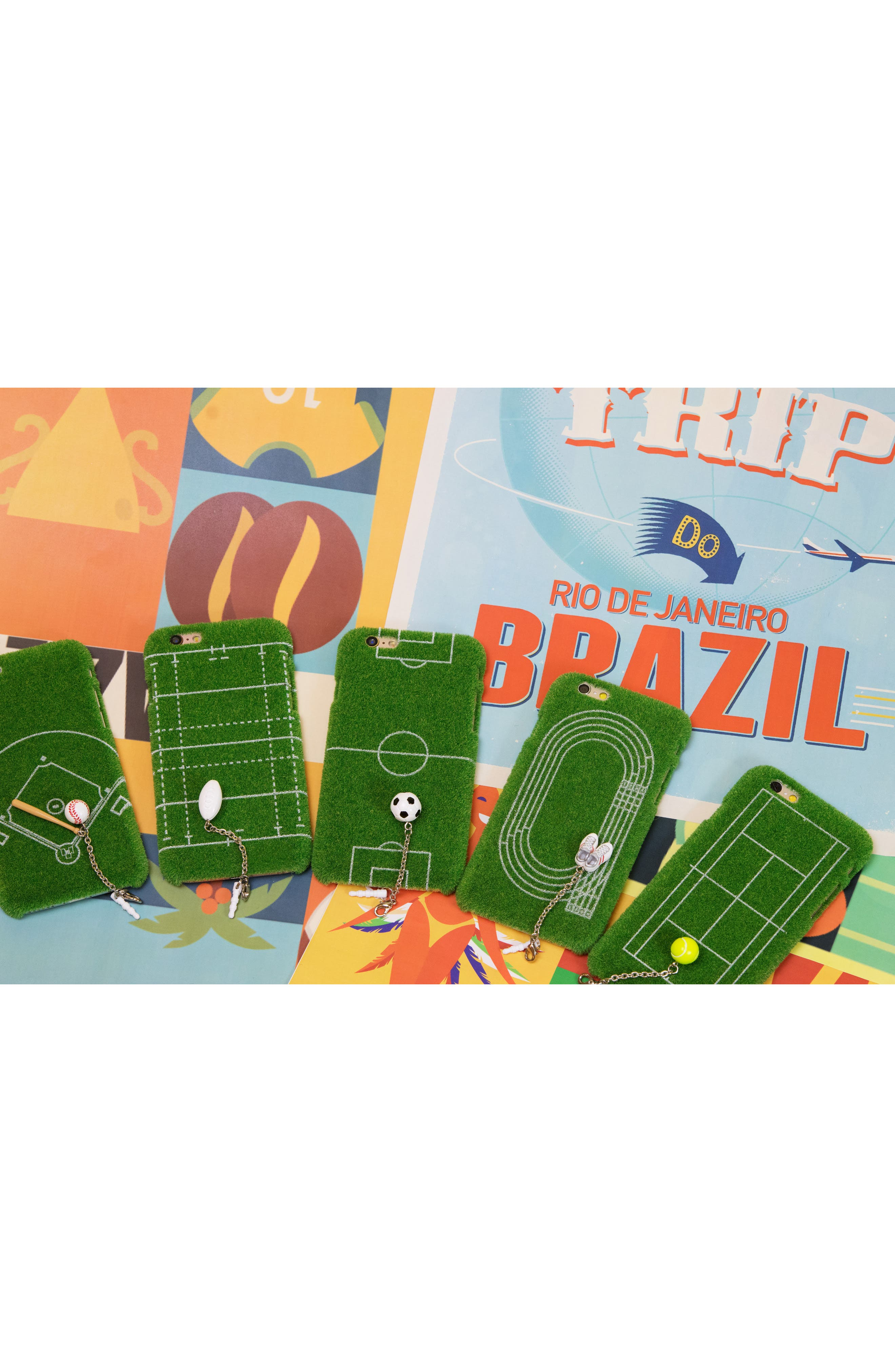Grand Slam Portable Park iPhone 6/6s & 6/6s Plus Case,                             Alternate thumbnail 5, color,                             GREEN