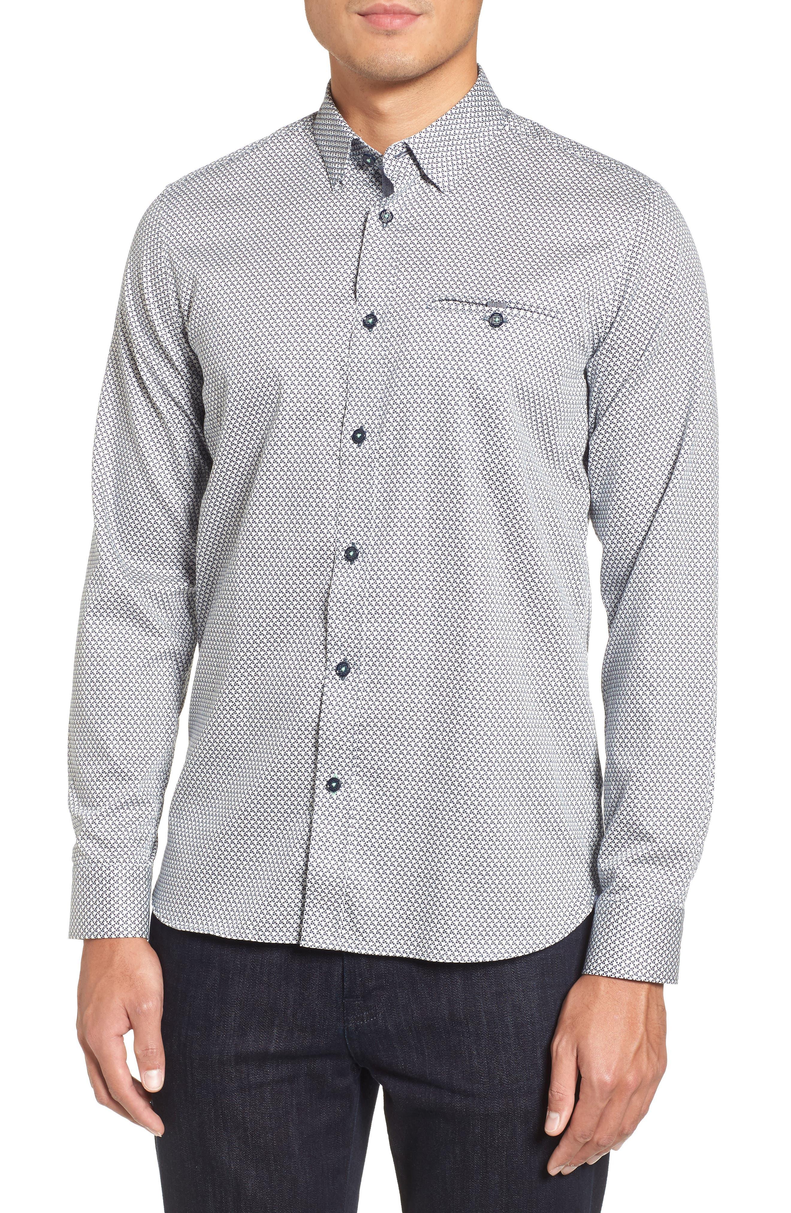 Vilamor Extra Slim Fit Print Sport Shirt,                             Main thumbnail 1, color,                             402