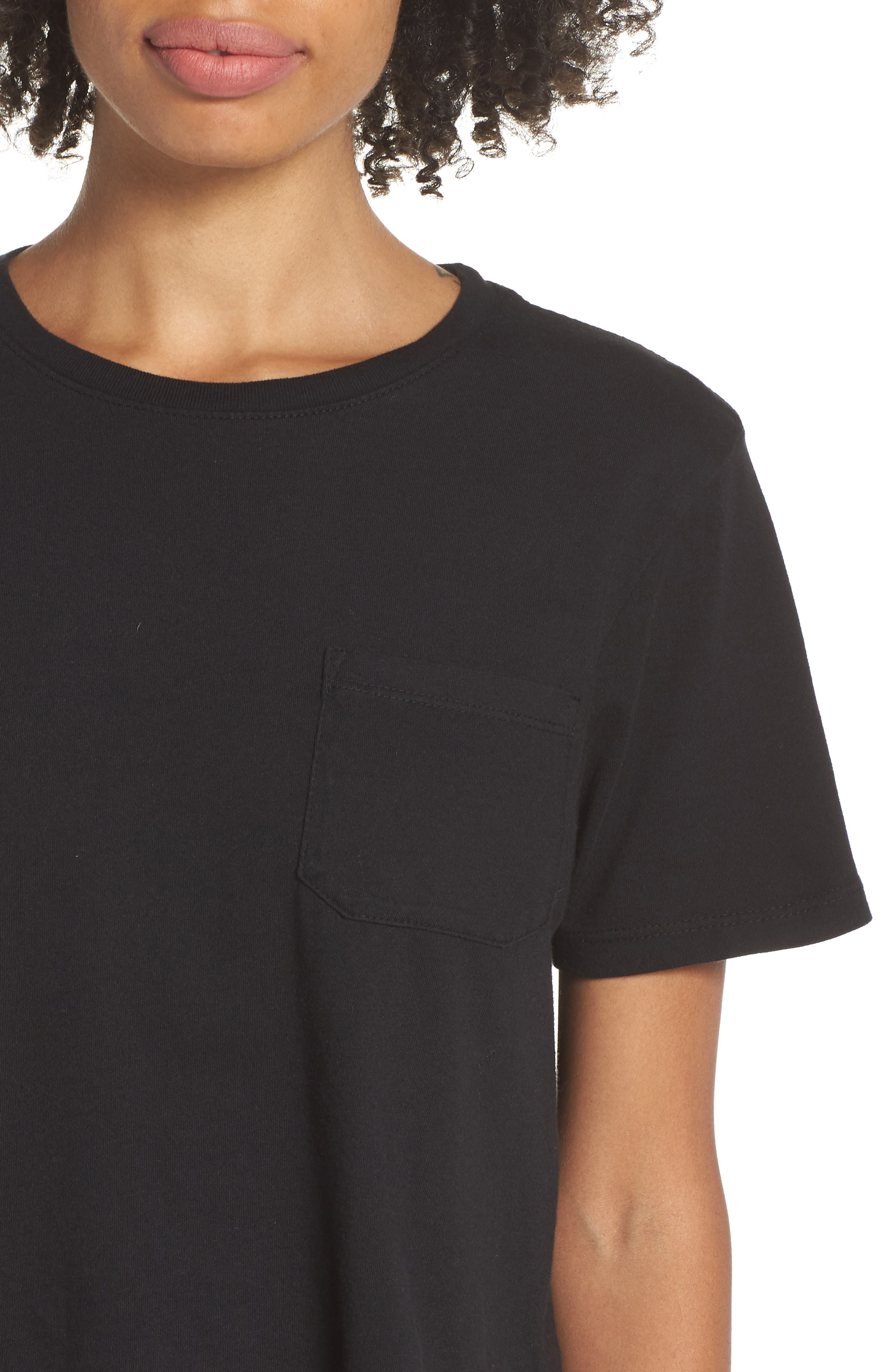 Boxy Crop Tee,                             Alternate thumbnail 4, color,                             BLACK