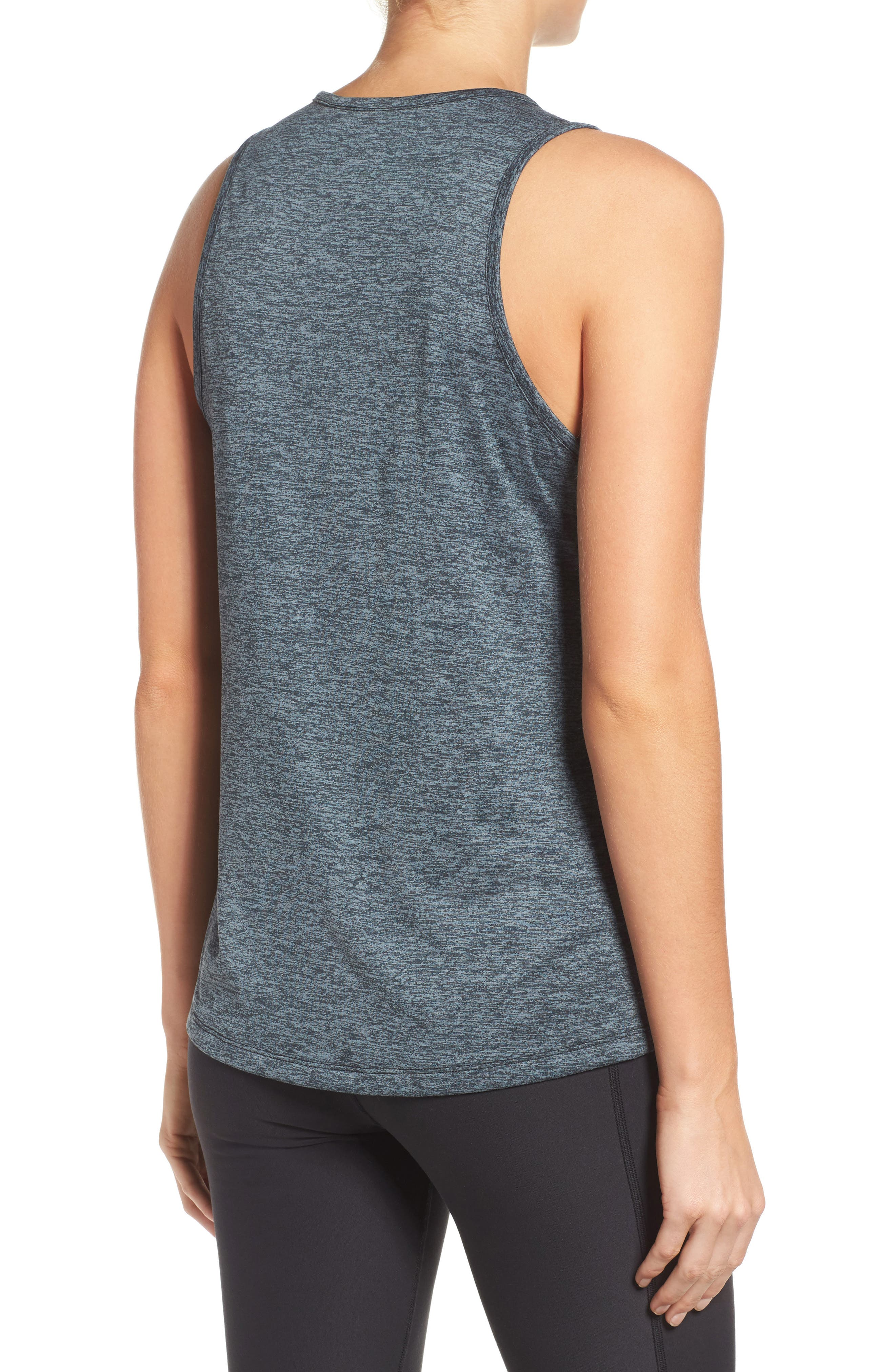 Dry Training Tank,                             Alternate thumbnail 2, color,                             BLACK/ HEATHER/ COOL GREY
