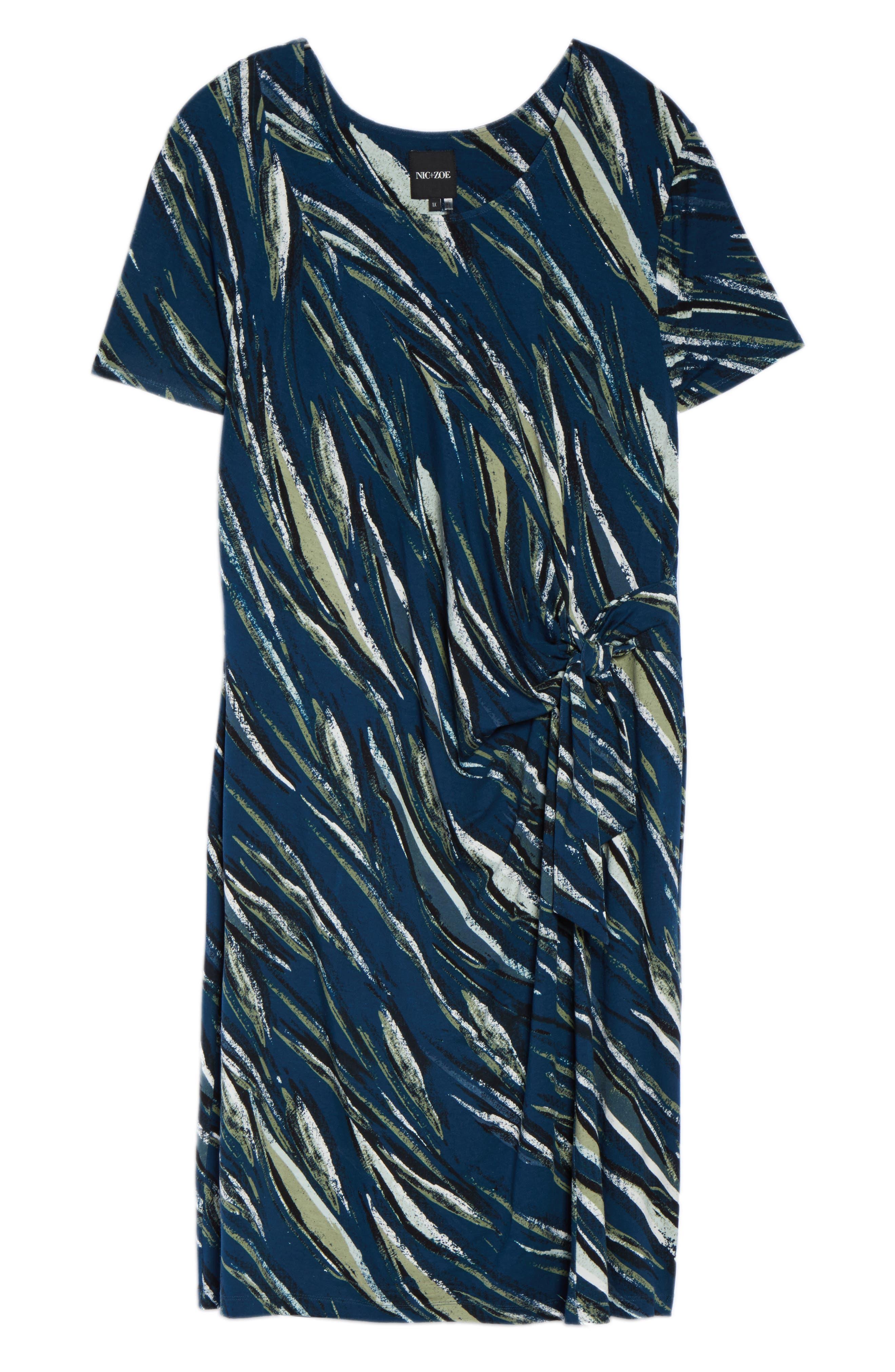 Tiger Lily Twist Front Sheath Dress,                             Alternate thumbnail 6, color,                             MULTI