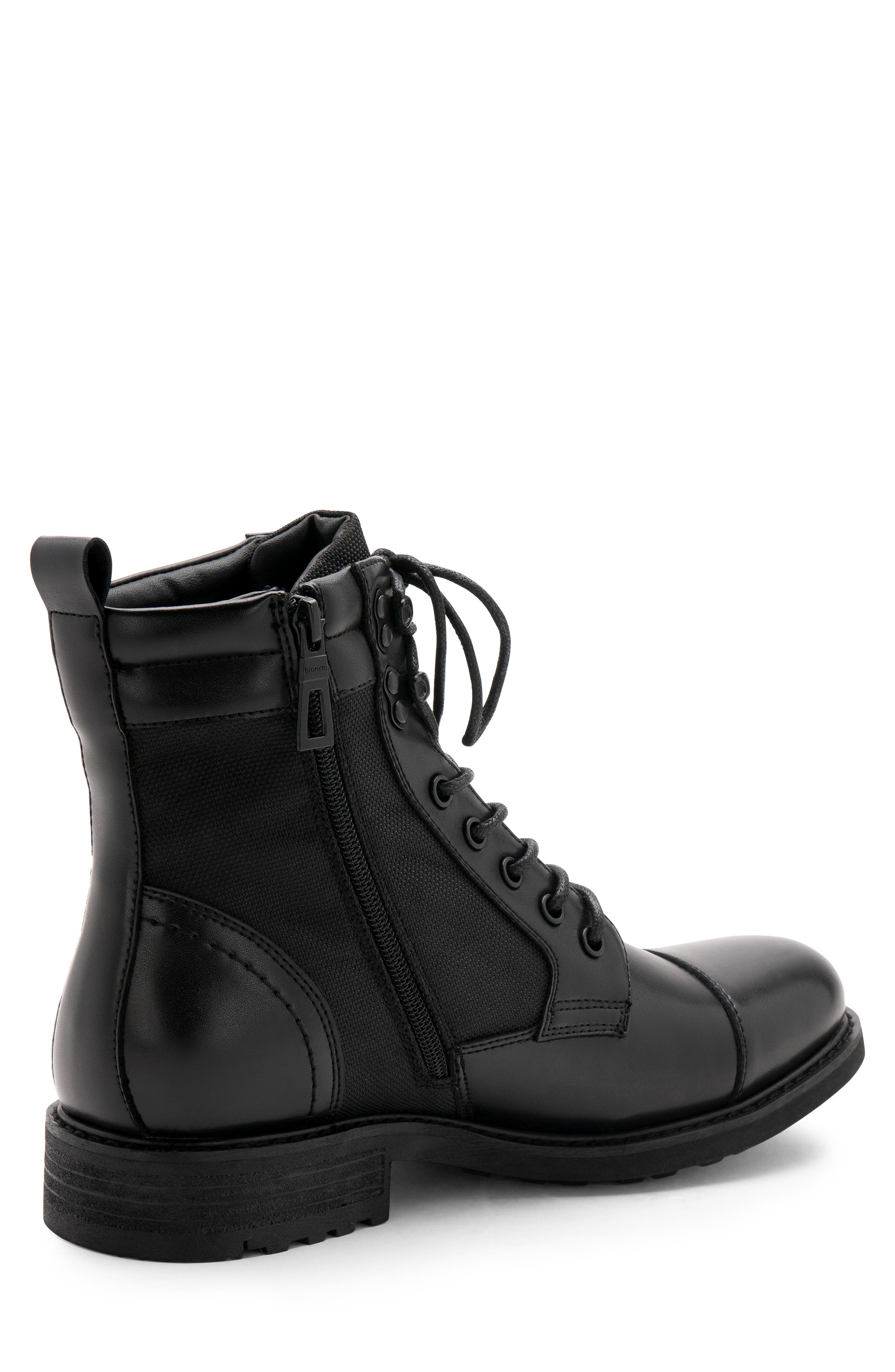 Paxton Waterproof Cap Toe Boot,                             Alternate thumbnail 7, color,                             BLACK LEATHER