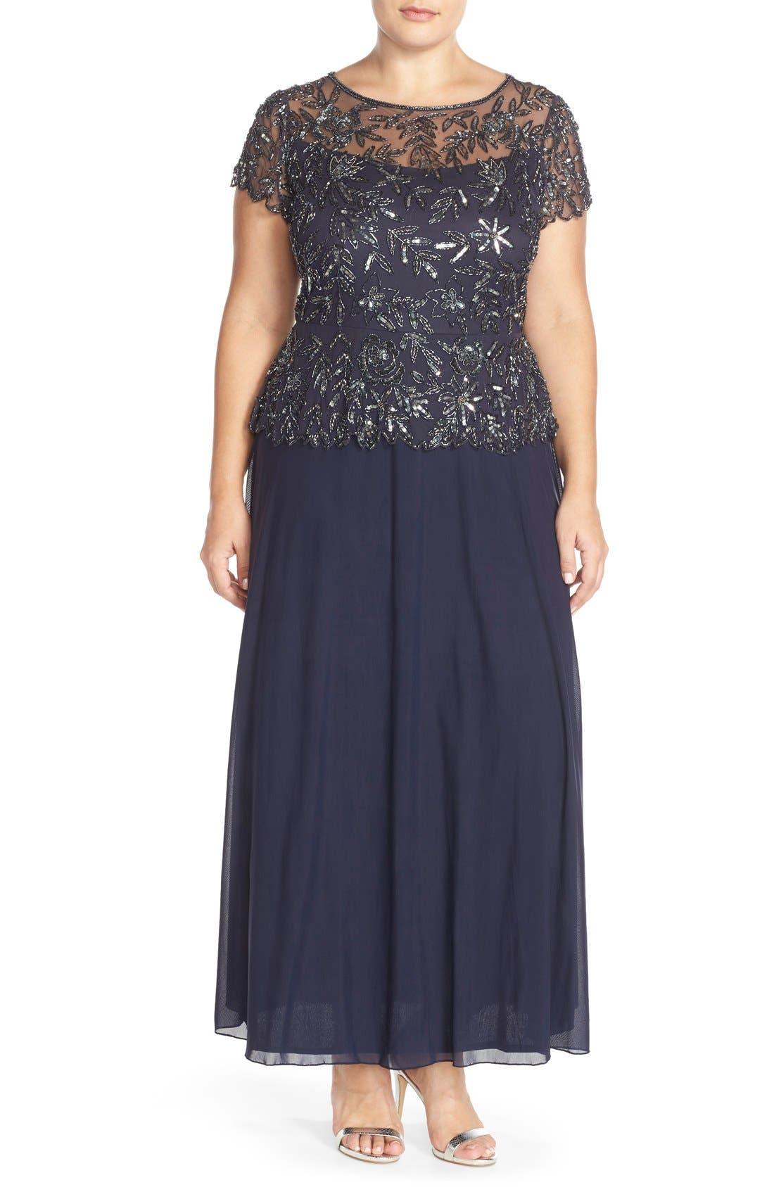 Mock 2-Pc. A-Line Gown,                             Main thumbnail 5, color,