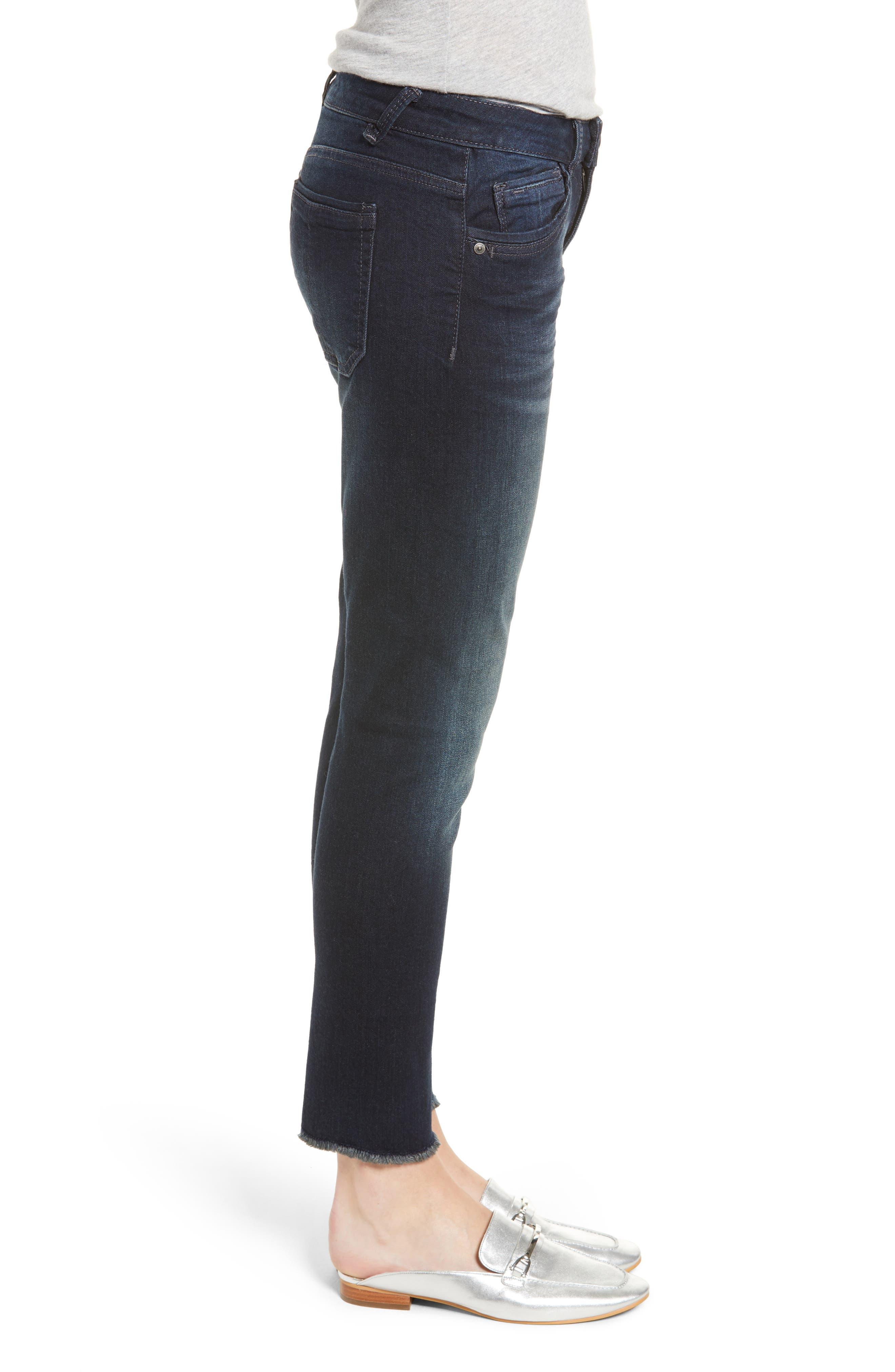 Seamless Ankle Skimmer Jeans,                             Alternate thumbnail 3, color,                             INDIGO