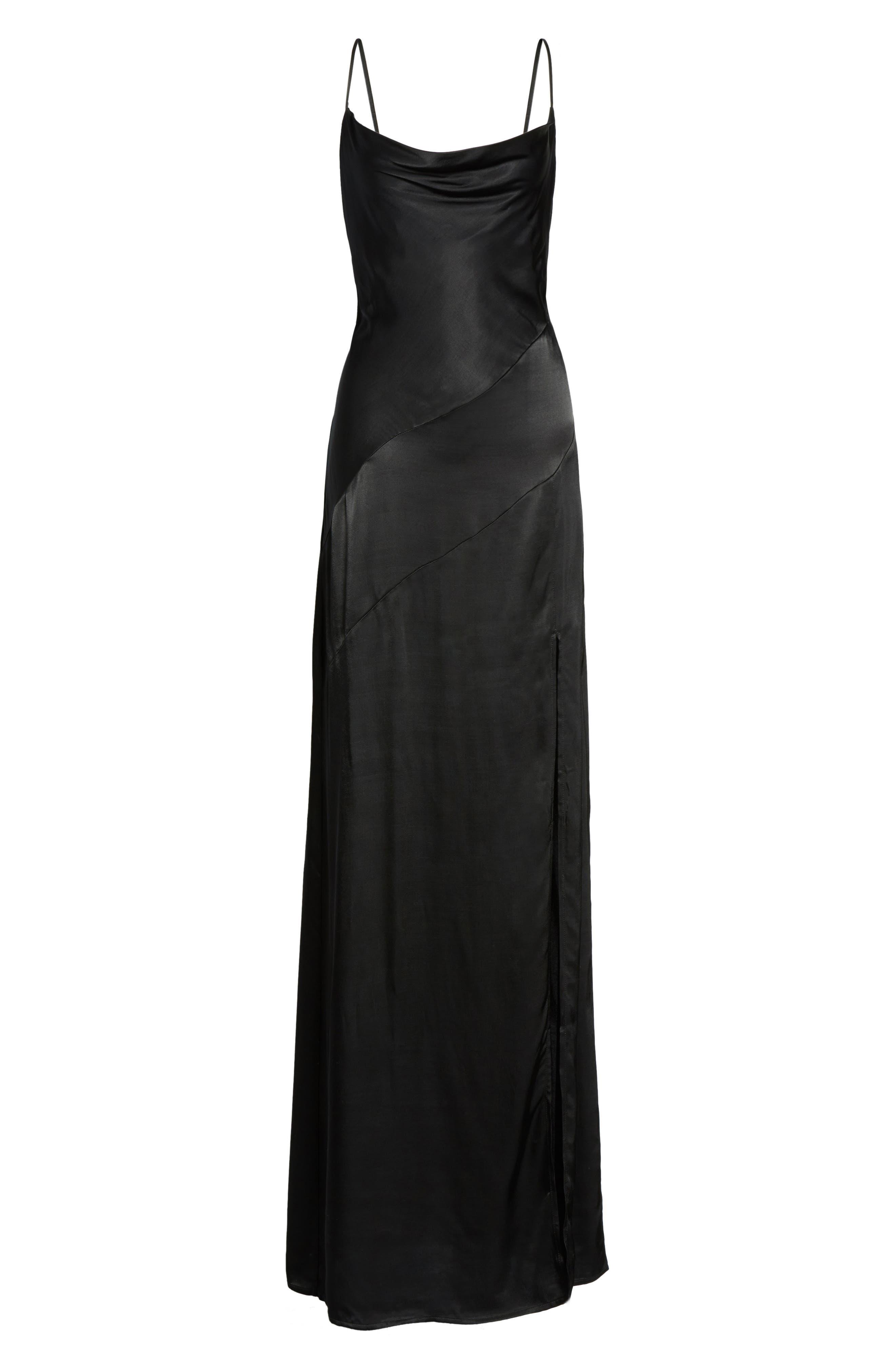 Wyatt Slip Dress,                             Alternate thumbnail 6, color,                             001