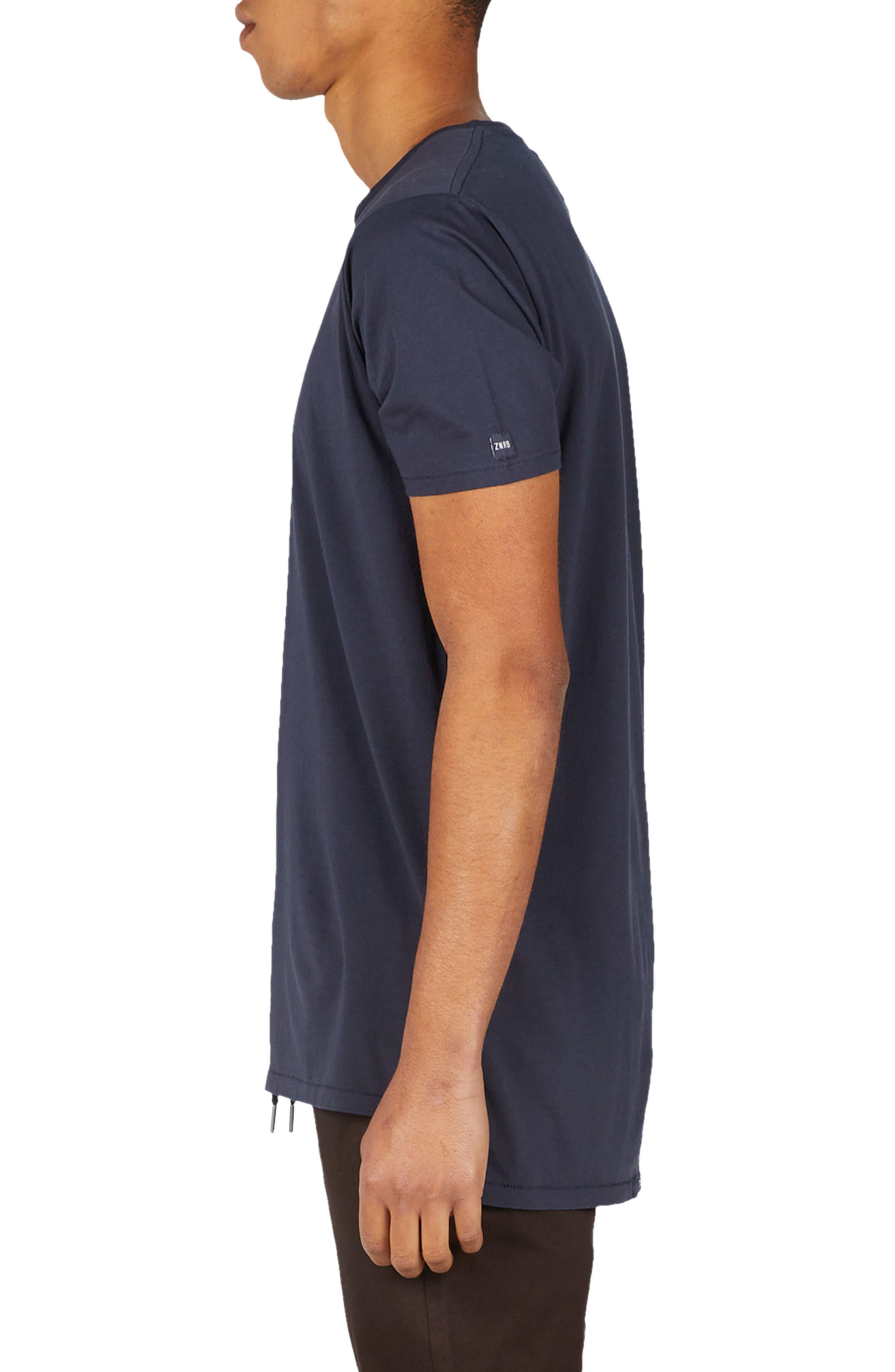 Flintlock Longline T-Shirt,                             Alternate thumbnail 3, color,                             DUKE BLUE