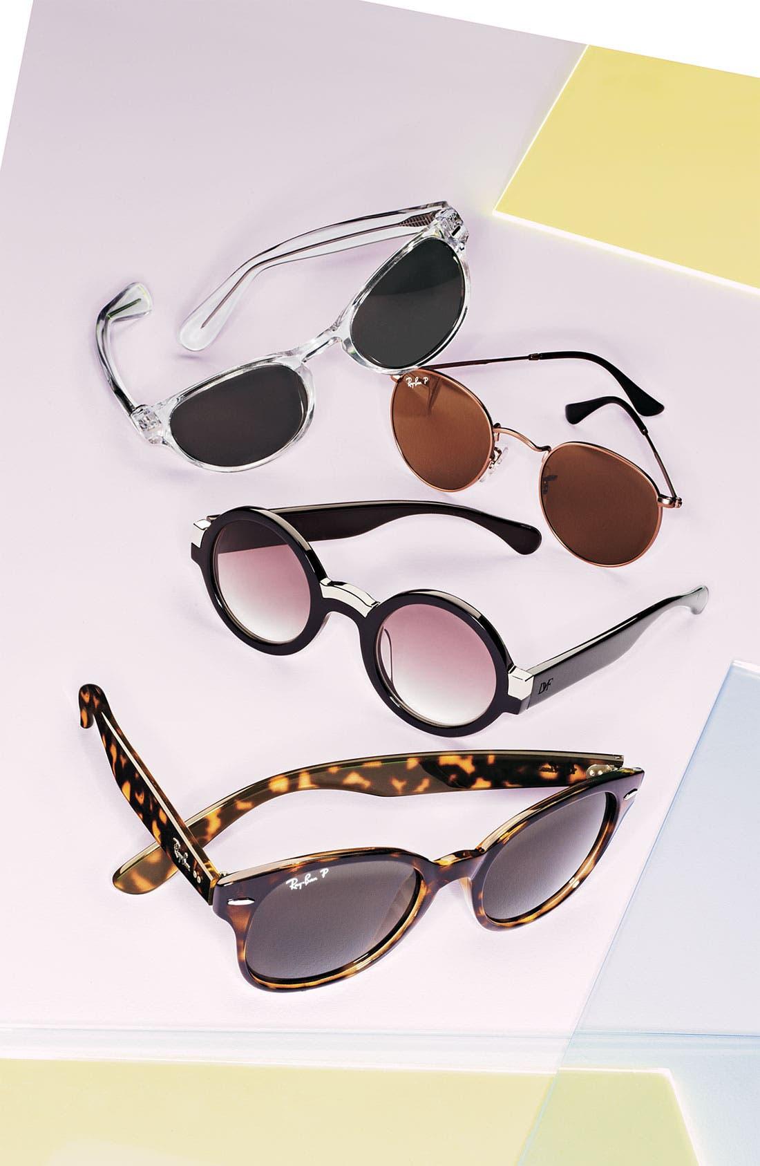 50mm Retro Inspired Round Metal Sunglasses,                             Alternate thumbnail 2, color,                             043
