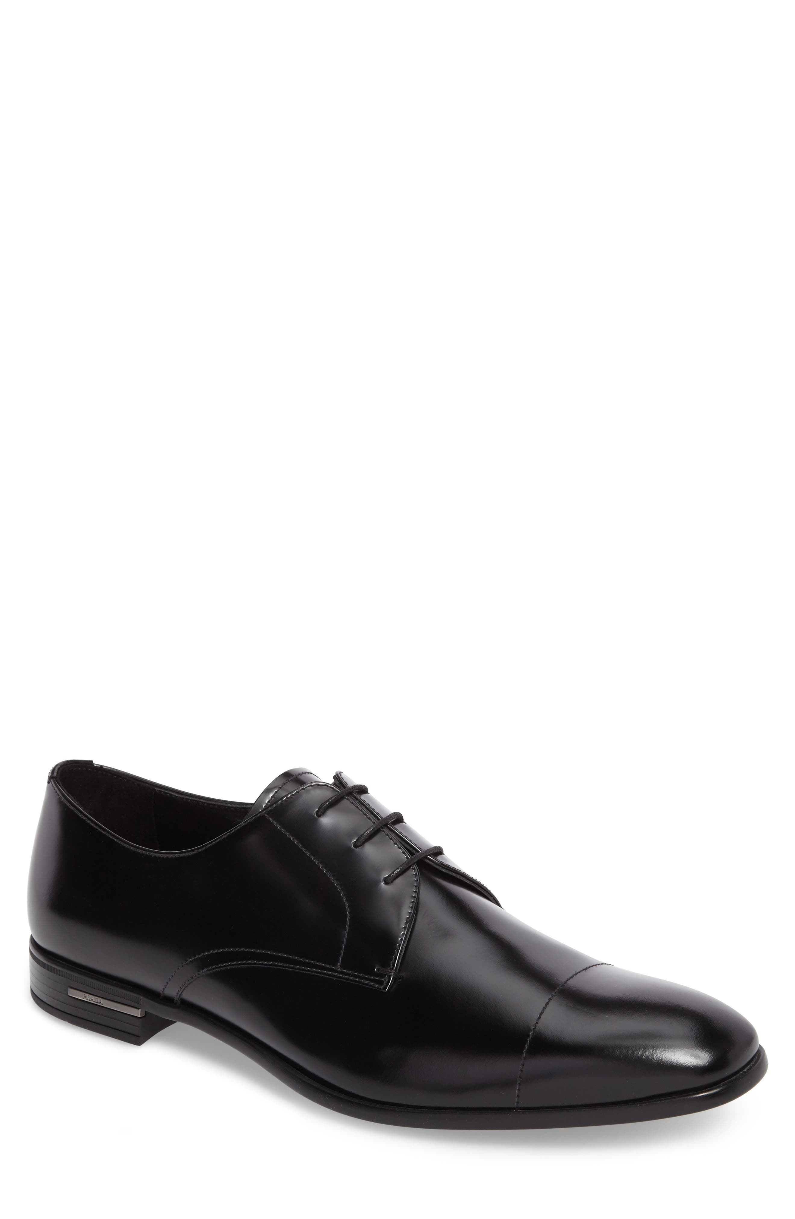 Cap Toe Derby,                             Main thumbnail 1, color,                             BLACK