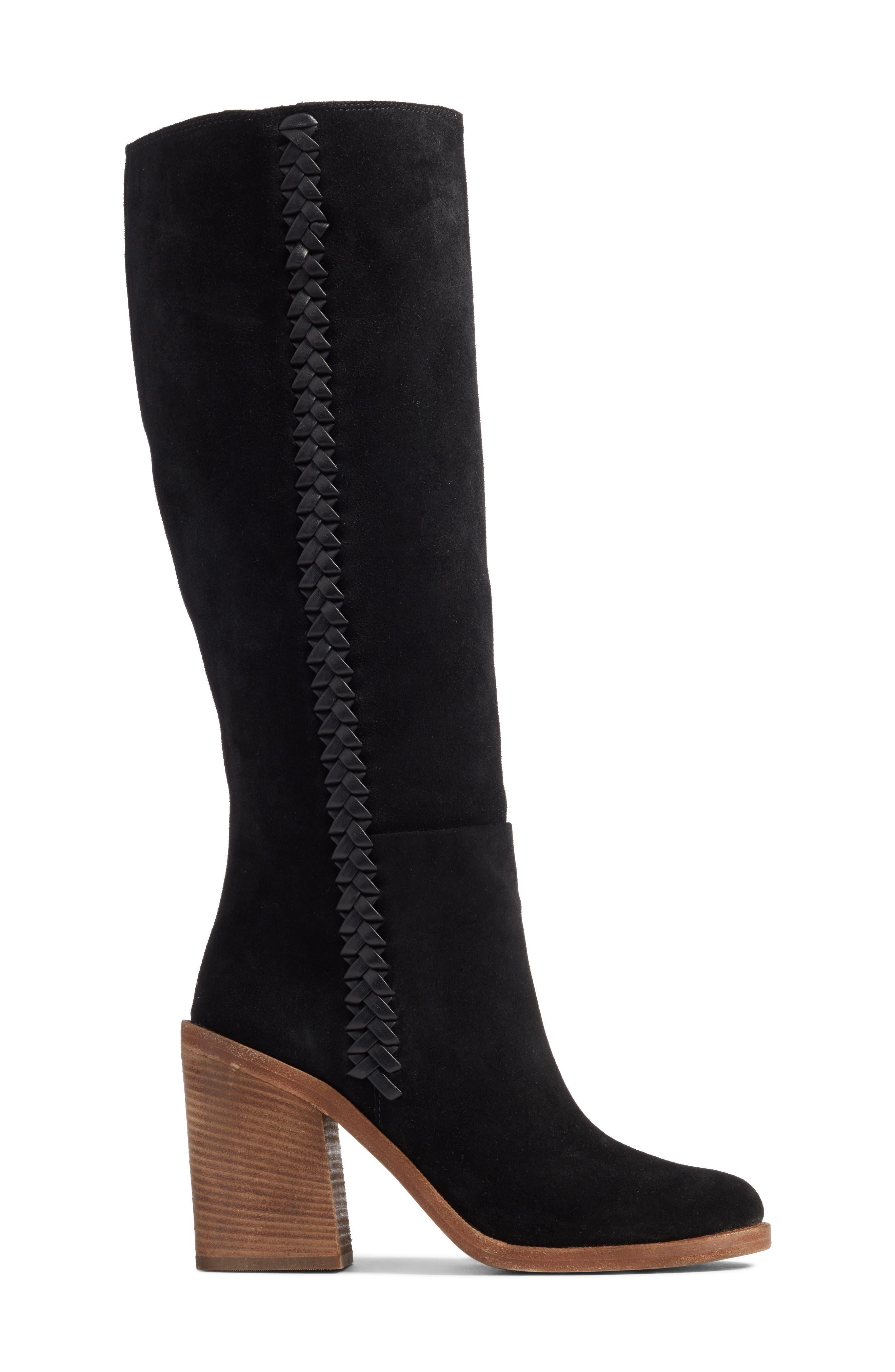 Maeva Knee High Boot,                             Alternate thumbnail 3, color,                             001