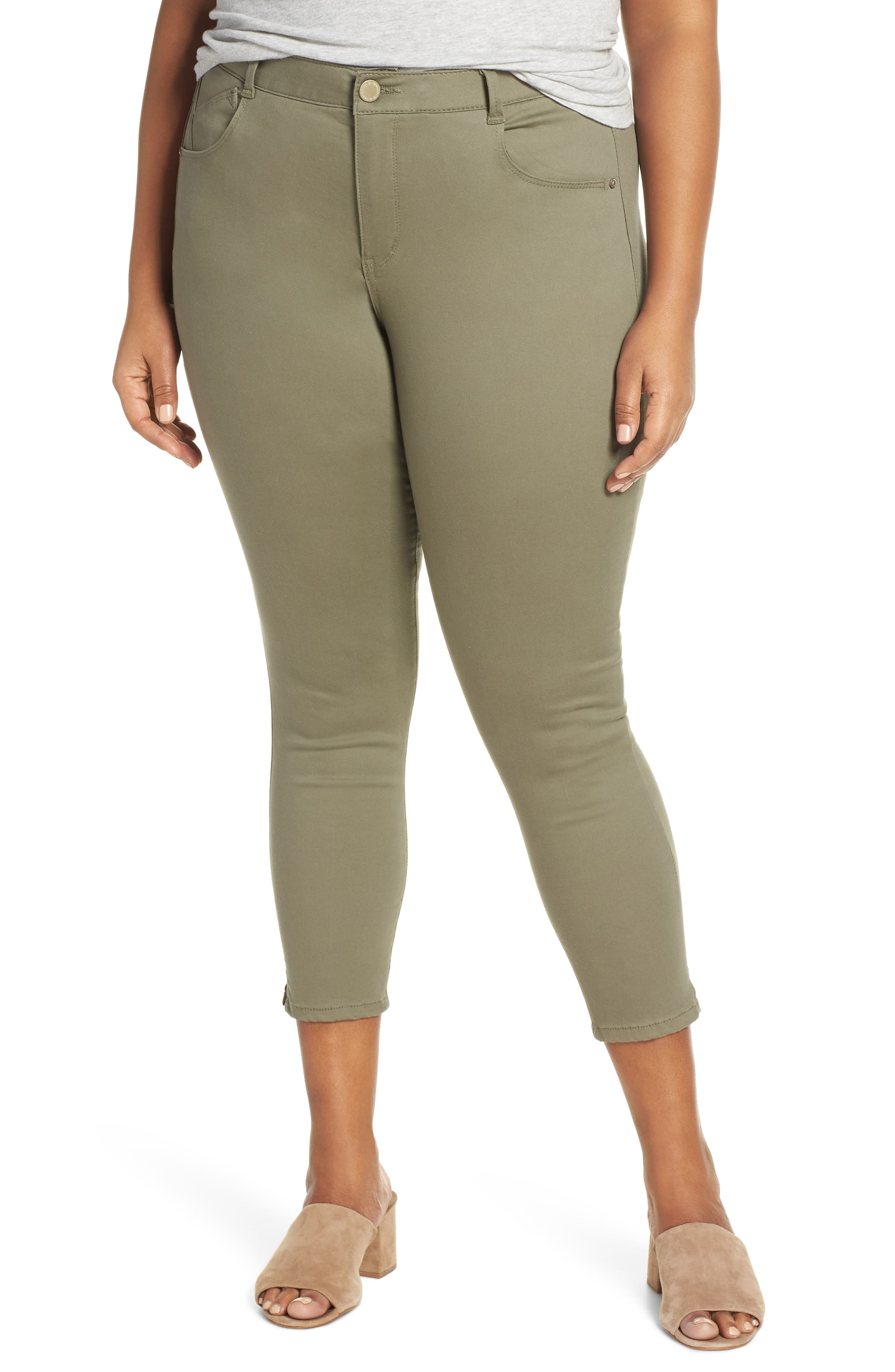 Ab-Solution High Waist Ankle Skinny Pants,                             Main thumbnail 1, color,                             LOK LAUREL
