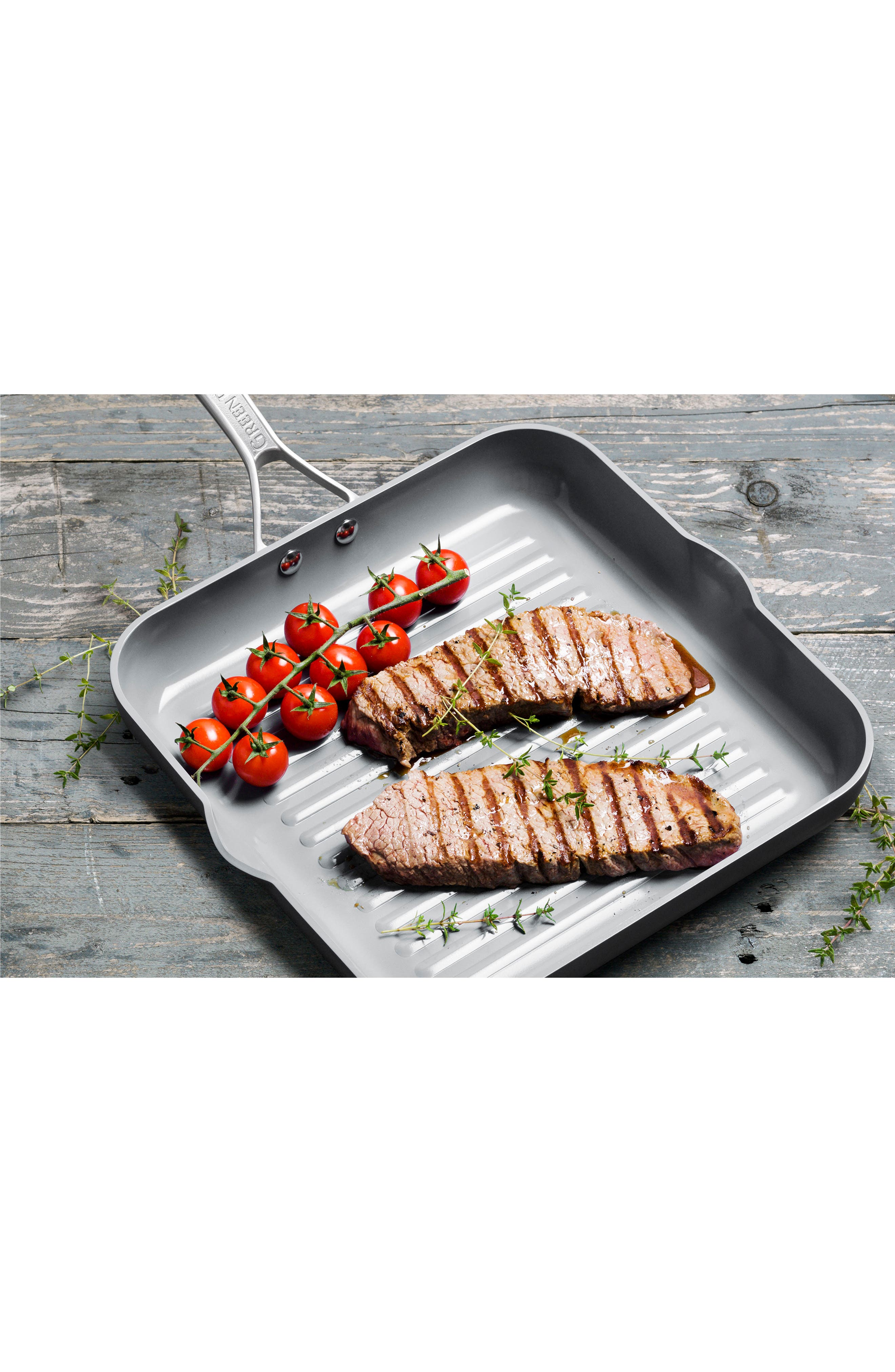 Paris 11-Inch Anodized Aluminum Ceramic Nonstick Grill Pan,                             Alternate thumbnail 4, color,                             020