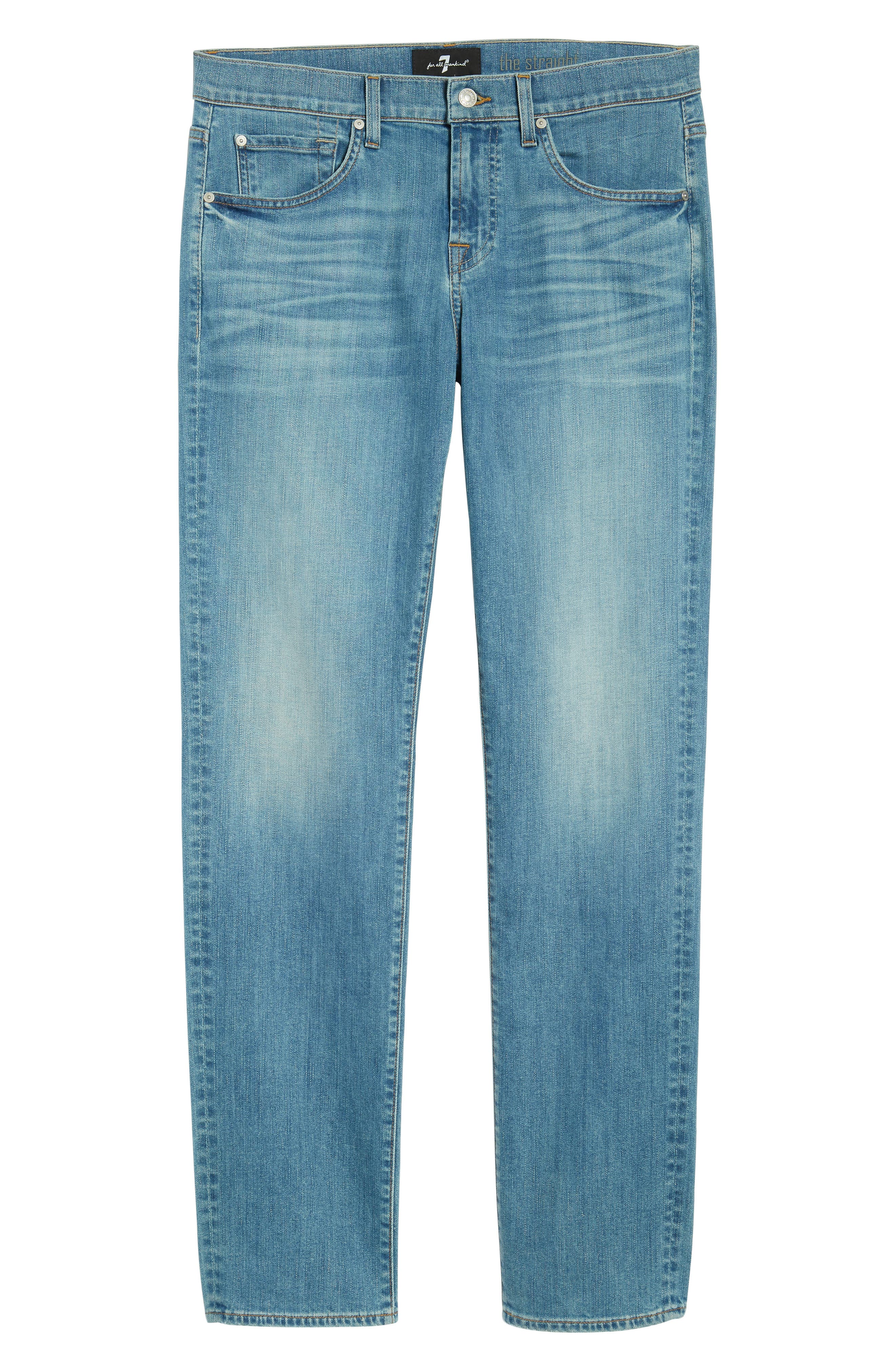 The Straight Slim Straight Leg Jeans,                             Alternate thumbnail 6, color,                             403