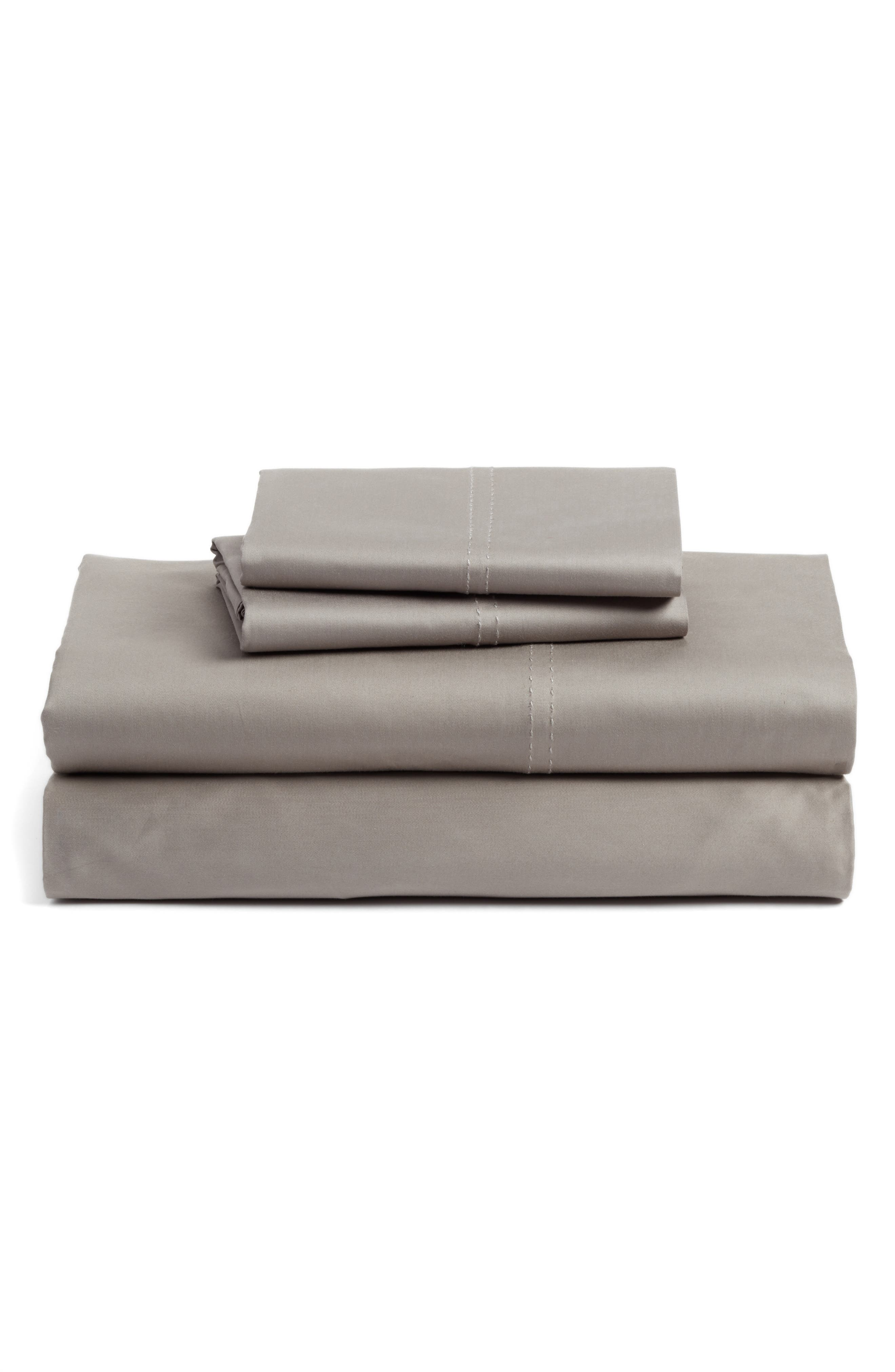 400 Thread Count Organic Cotton Sateen Sheet Set,                             Main thumbnail 7, color,