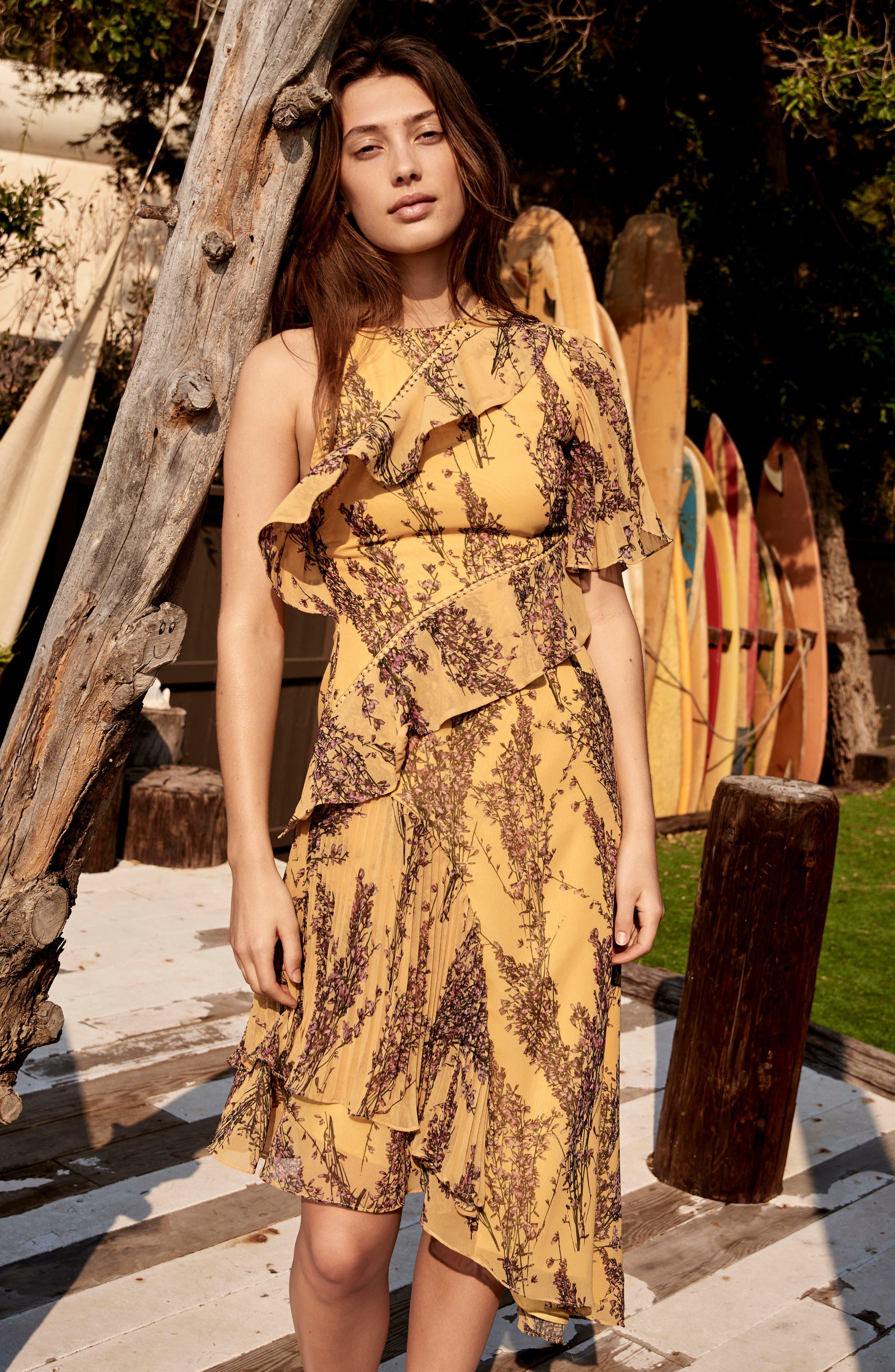 Asymmetrical Ruffle Dress,                             Alternate thumbnail 11, color,                             622