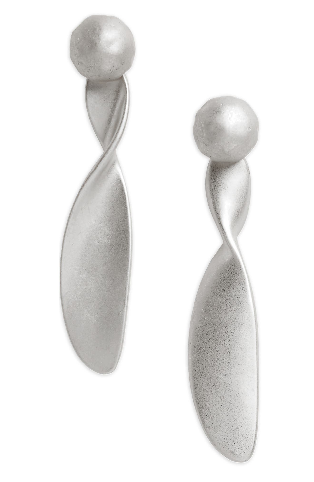 Twist Brushed Metal Drop Earrings,                         Main,                         color, 040
