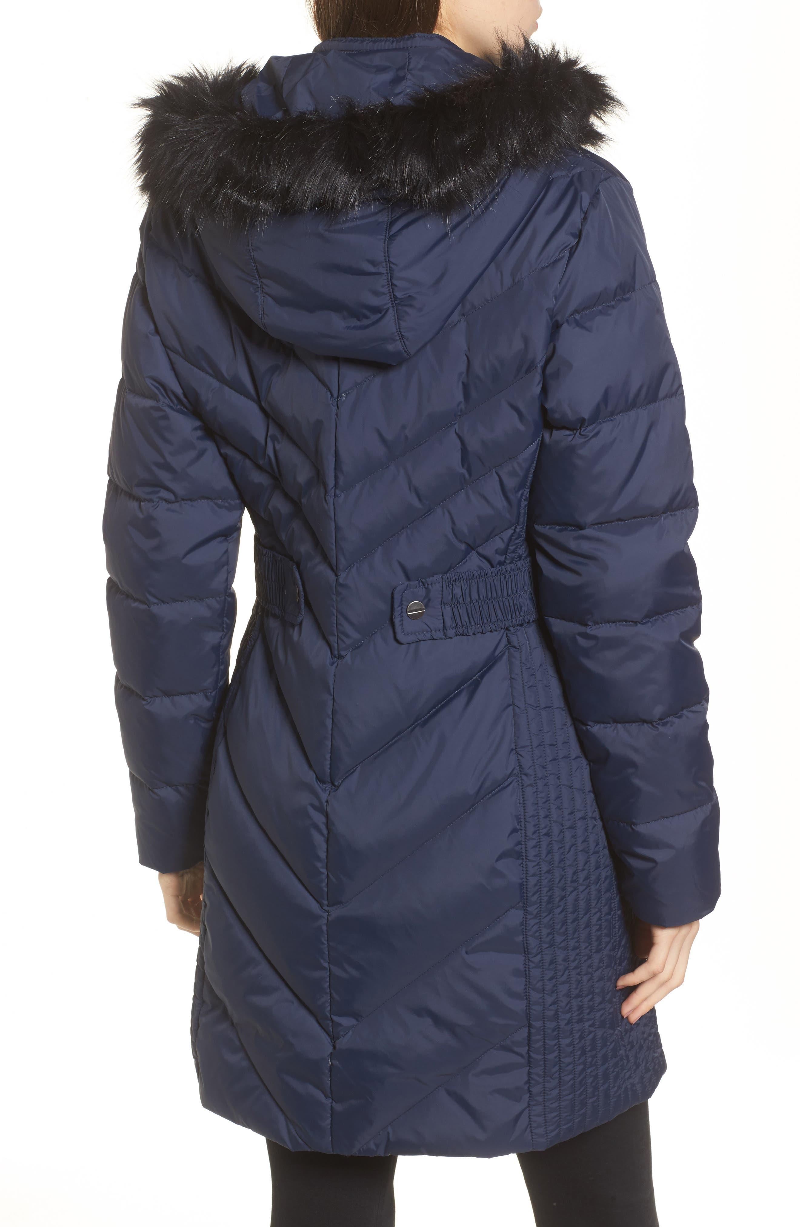 Faux Fur Trim Hooded Jacket,                             Alternate thumbnail 2, color,                             004