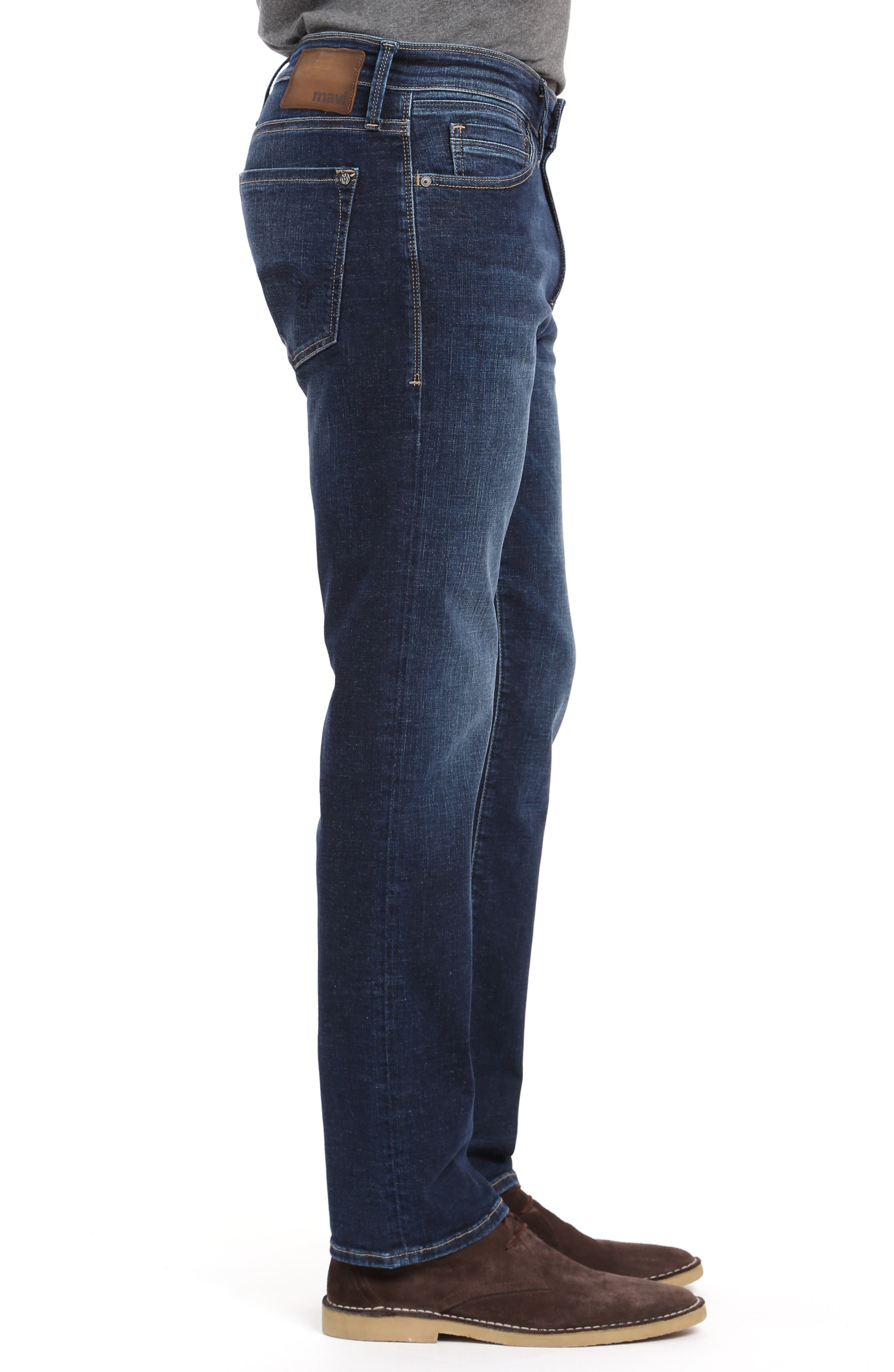 Marcus Slim Straight Leg Jeans,                             Alternate thumbnail 3, color,                             DEEP BRUSHED CASHMERE