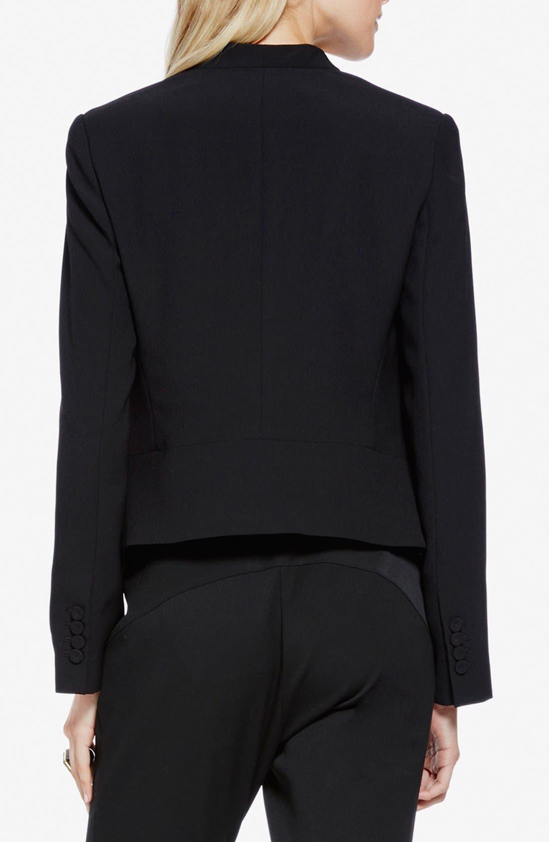 Drape Front Blazer,                             Alternate thumbnail 2, color,                             RICH BLACK