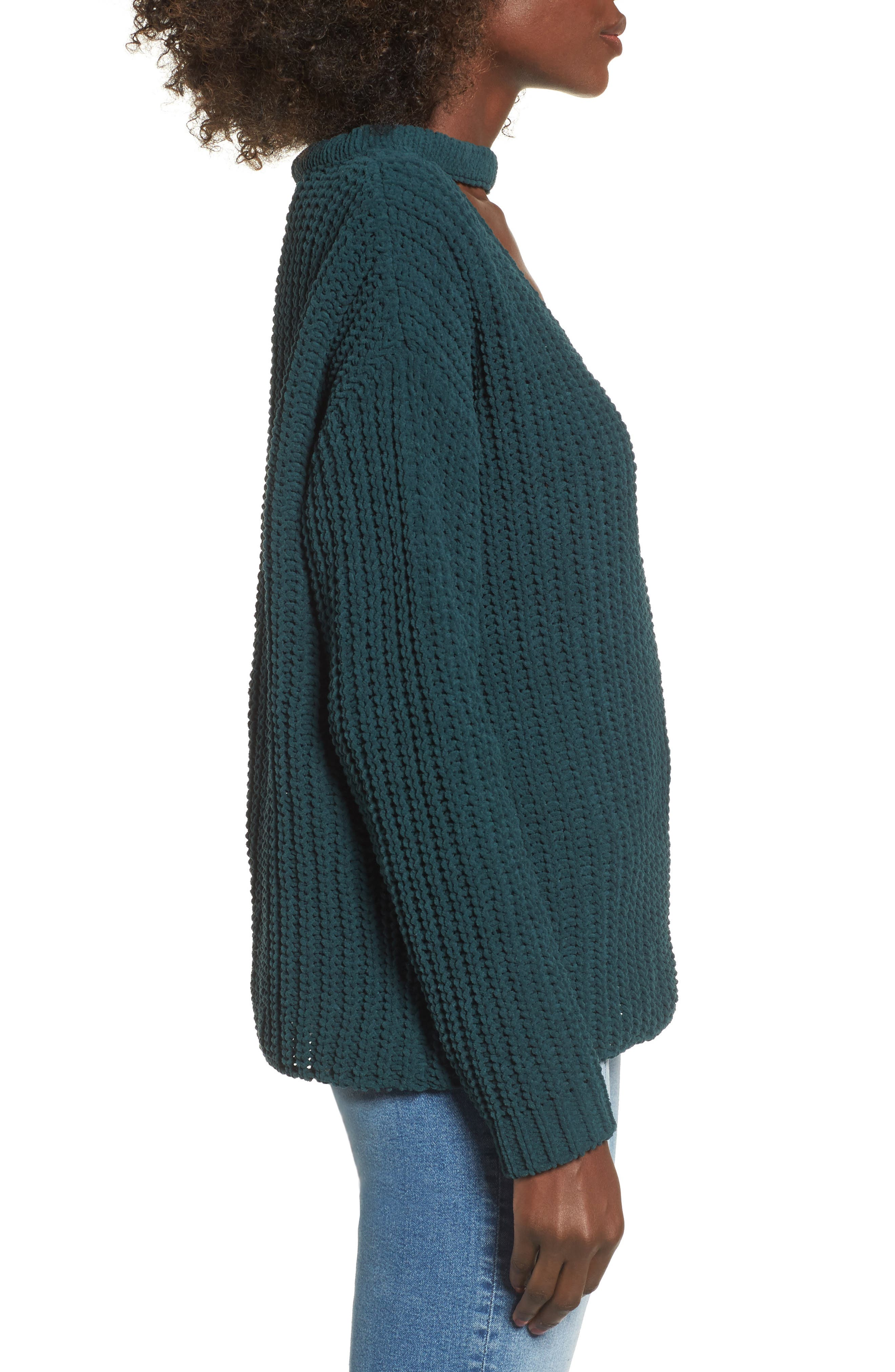 Mary Lous Choker Sweater,                             Alternate thumbnail 3, color,                             300