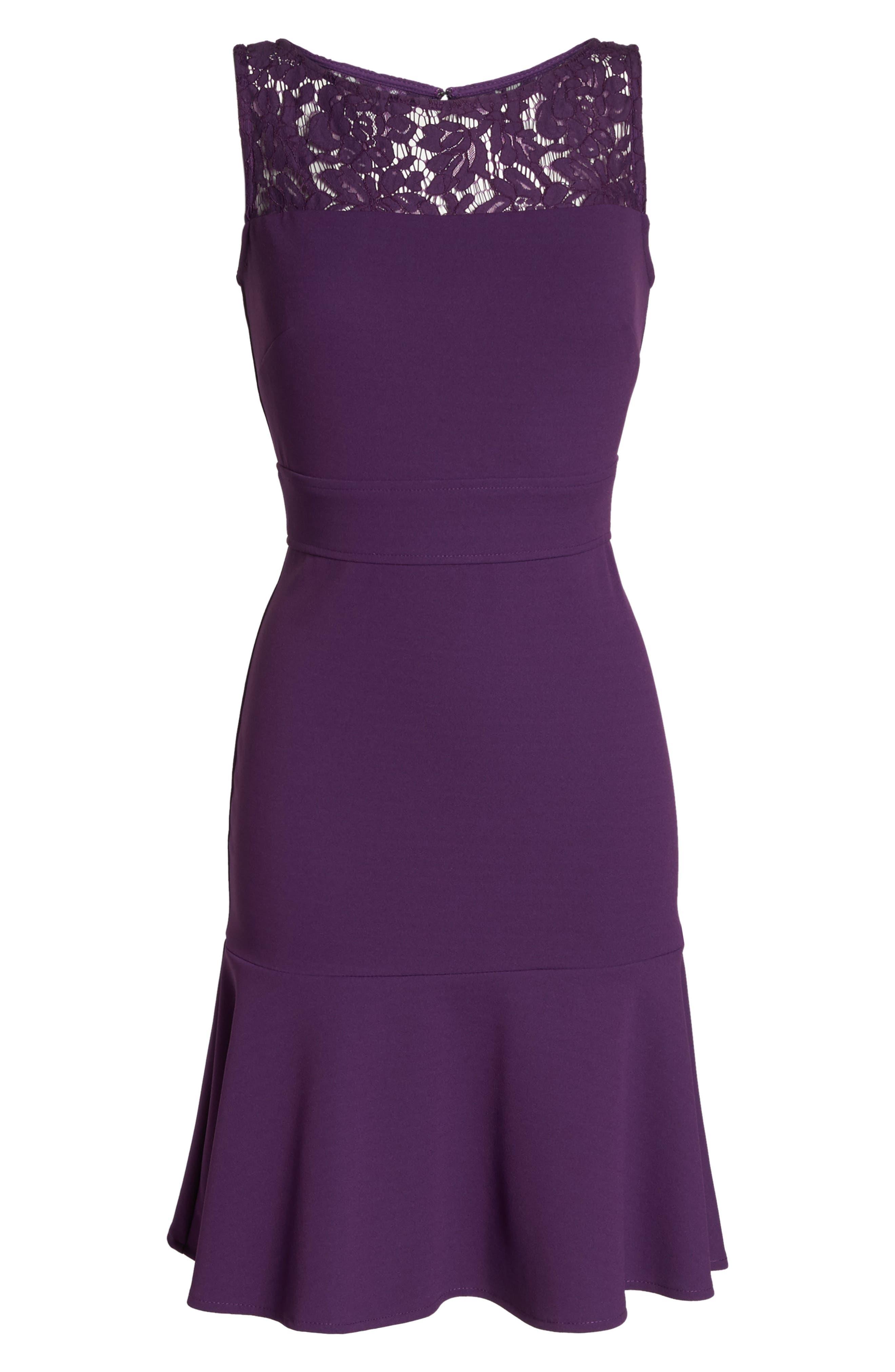 Lace Flounce Dress,                             Alternate thumbnail 12, color,