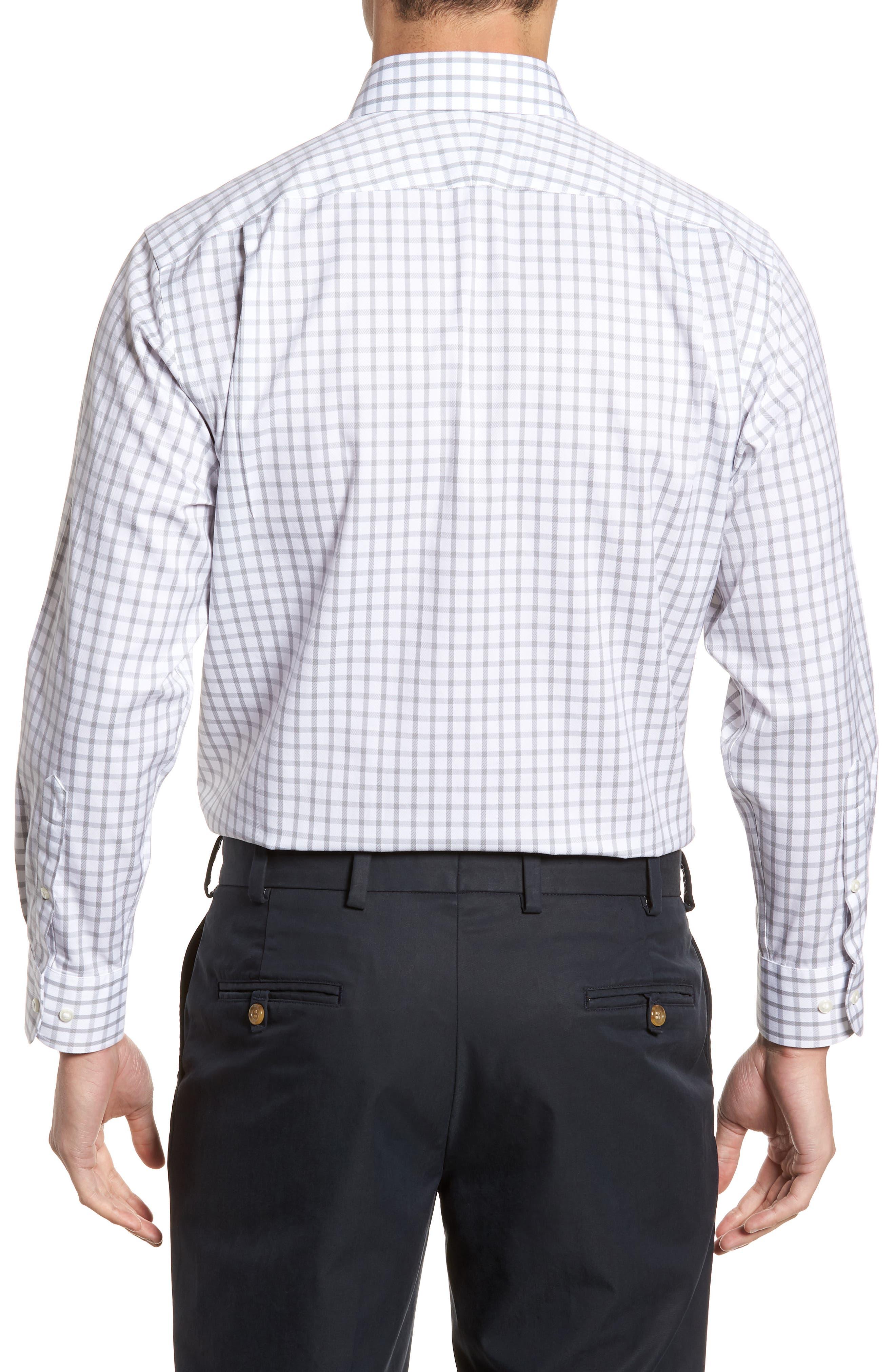 Smartcare<sup>™</sup> Traditional Fit Check Dress Shirt,                             Alternate thumbnail 3, color,                             050