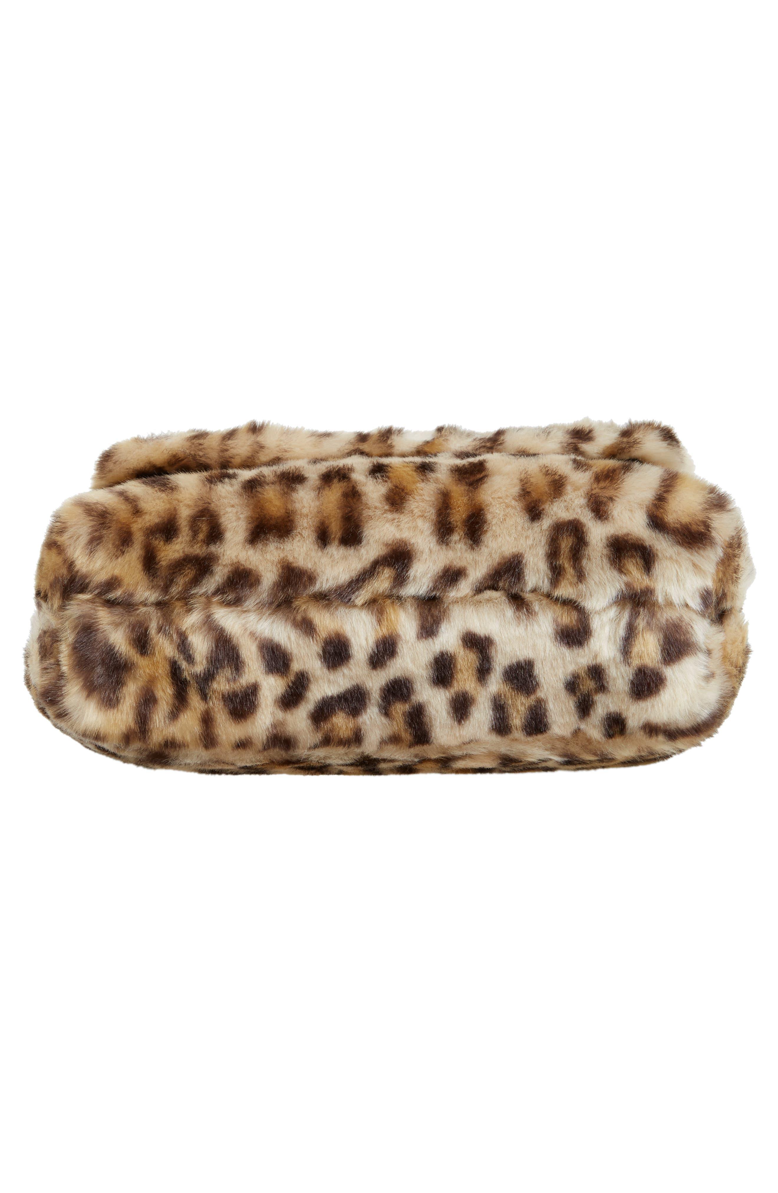 run wild faux fur shoulder bag/muff,                             Alternate thumbnail 6, color,                             200