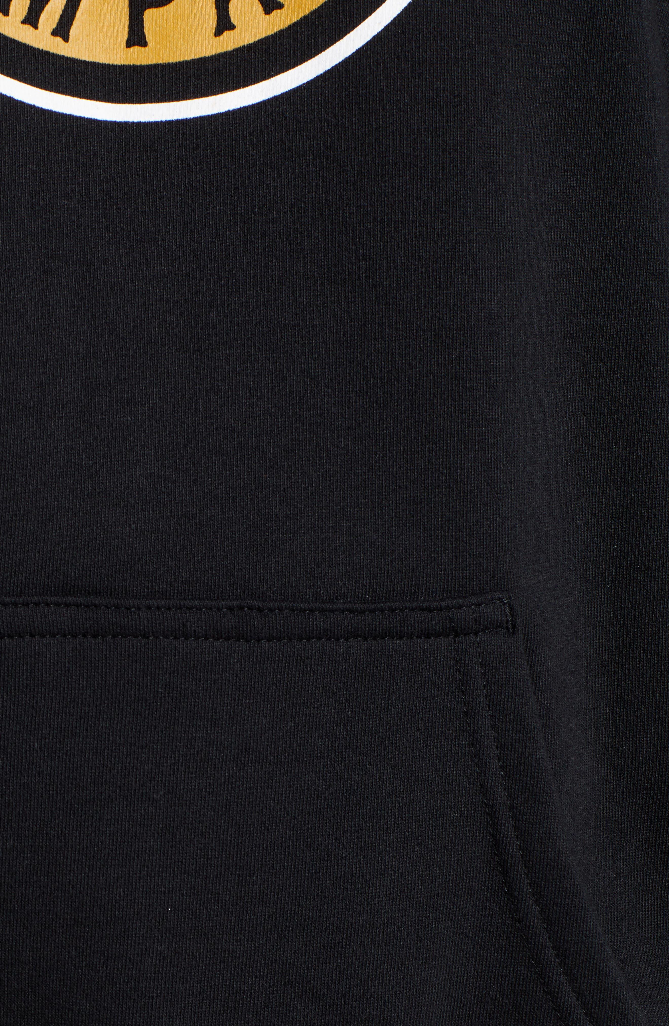 Forte Hooded Sweatshirt,                             Alternate thumbnail 5, color,                             BLACK