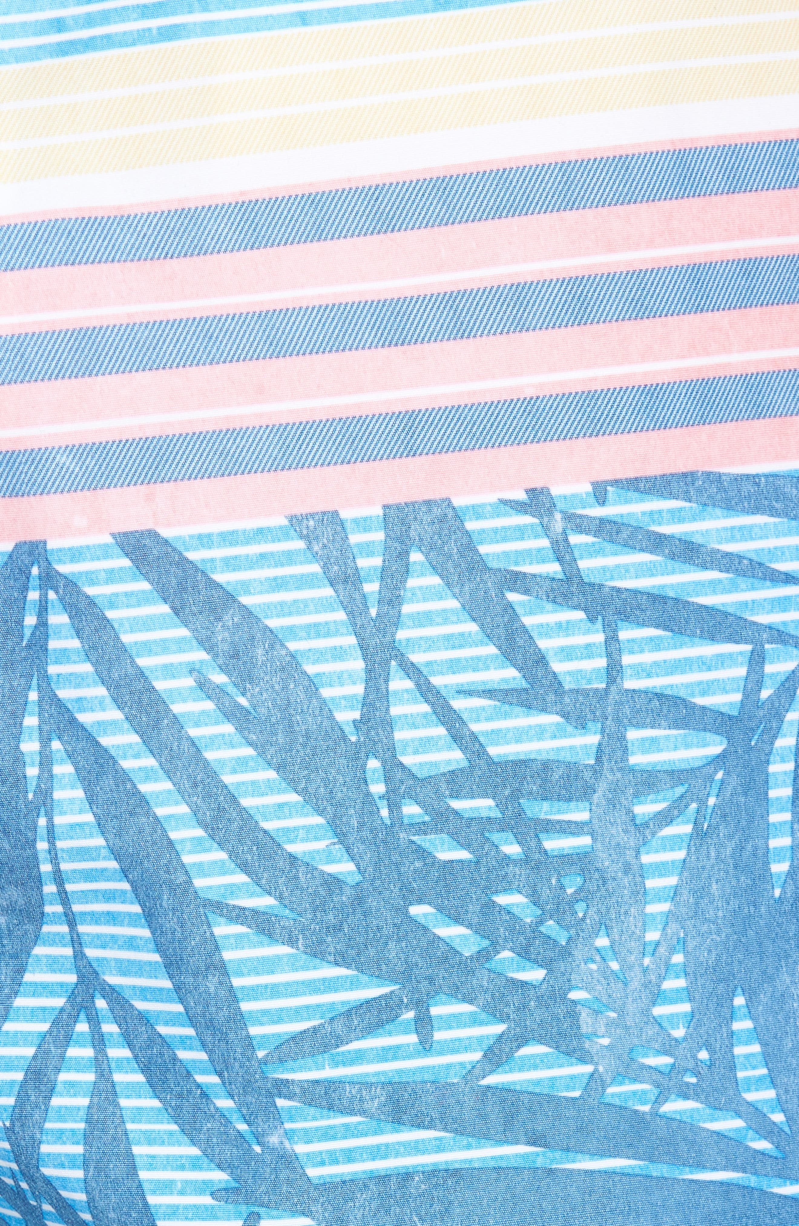 Baja Fronds & Stripes Board Shorts,                             Alternate thumbnail 5, color,                             400