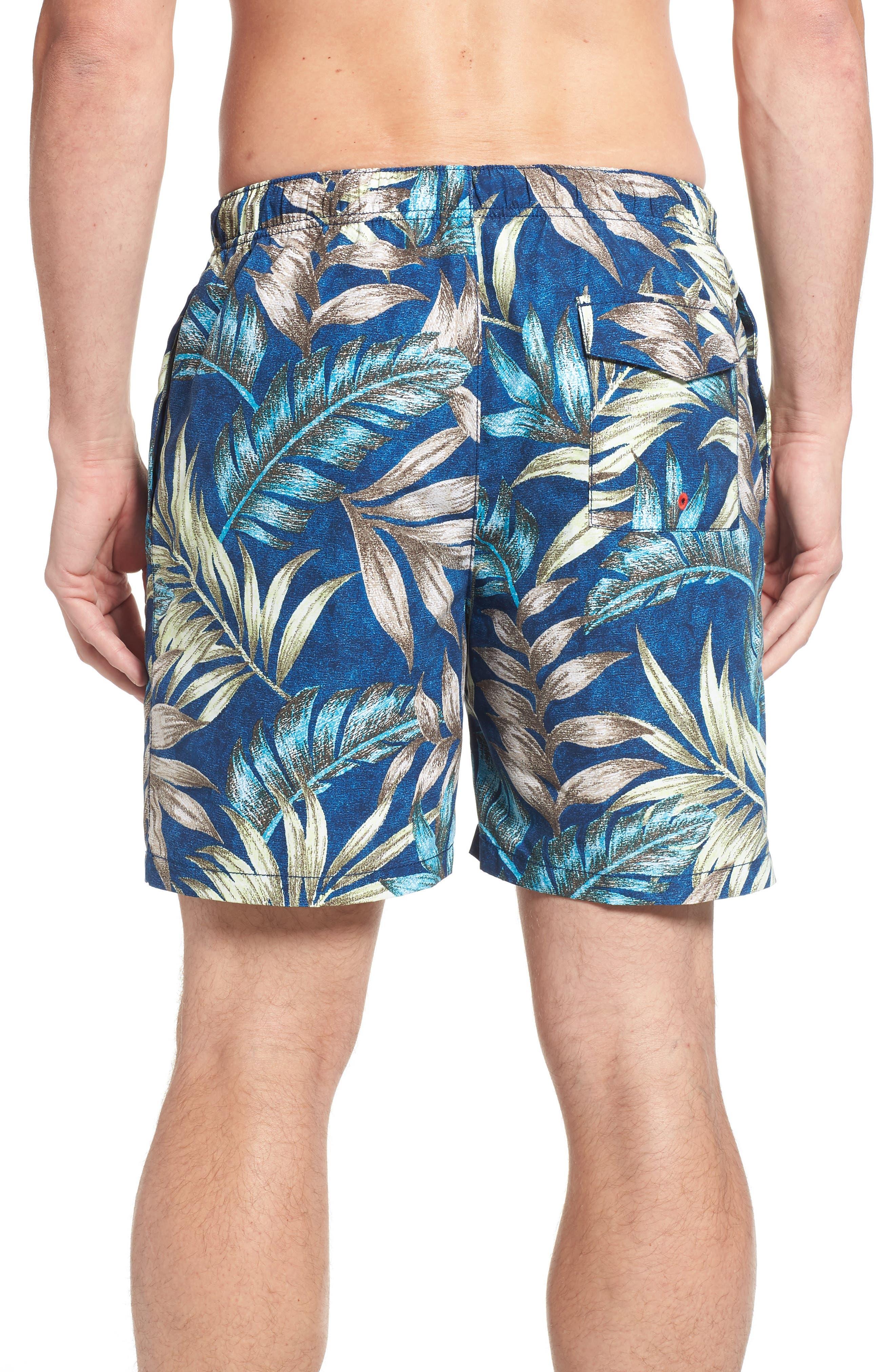 Naples Parque Palms Swim Trunks,                             Alternate thumbnail 2, color,                             400