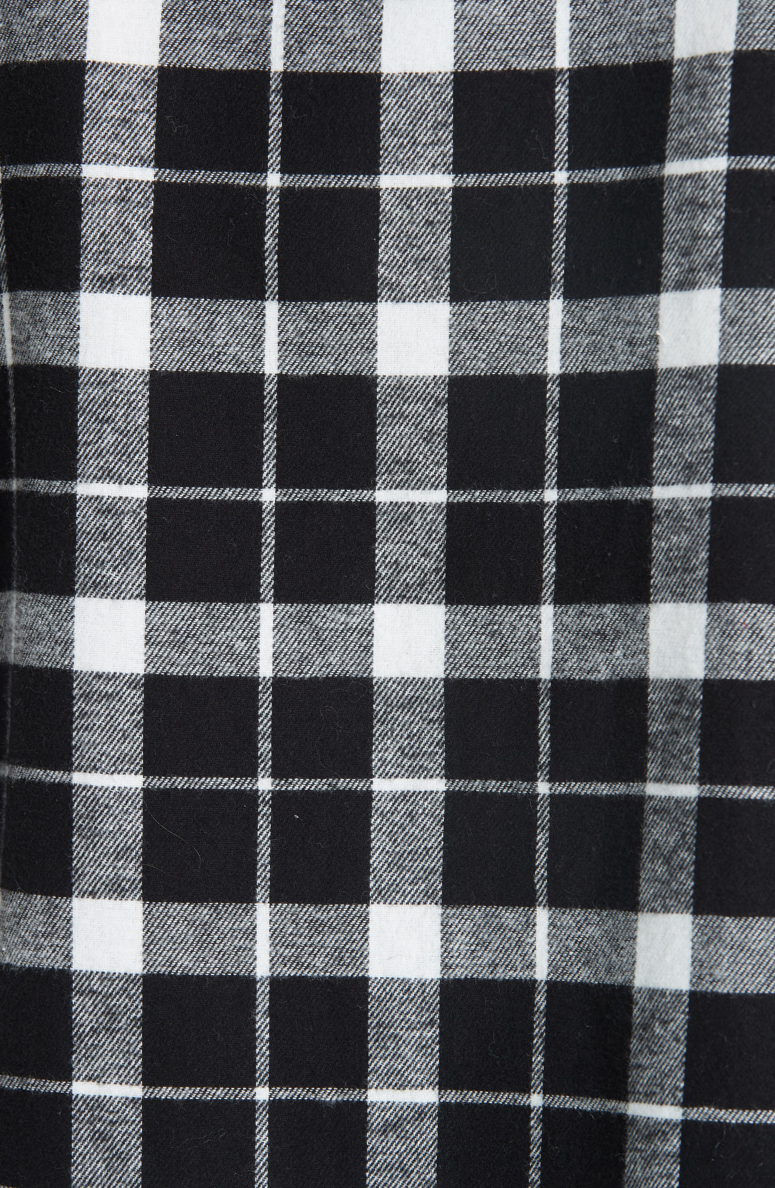 rustic plaid flannel shirt,                             Alternate thumbnail 5, color,                             001