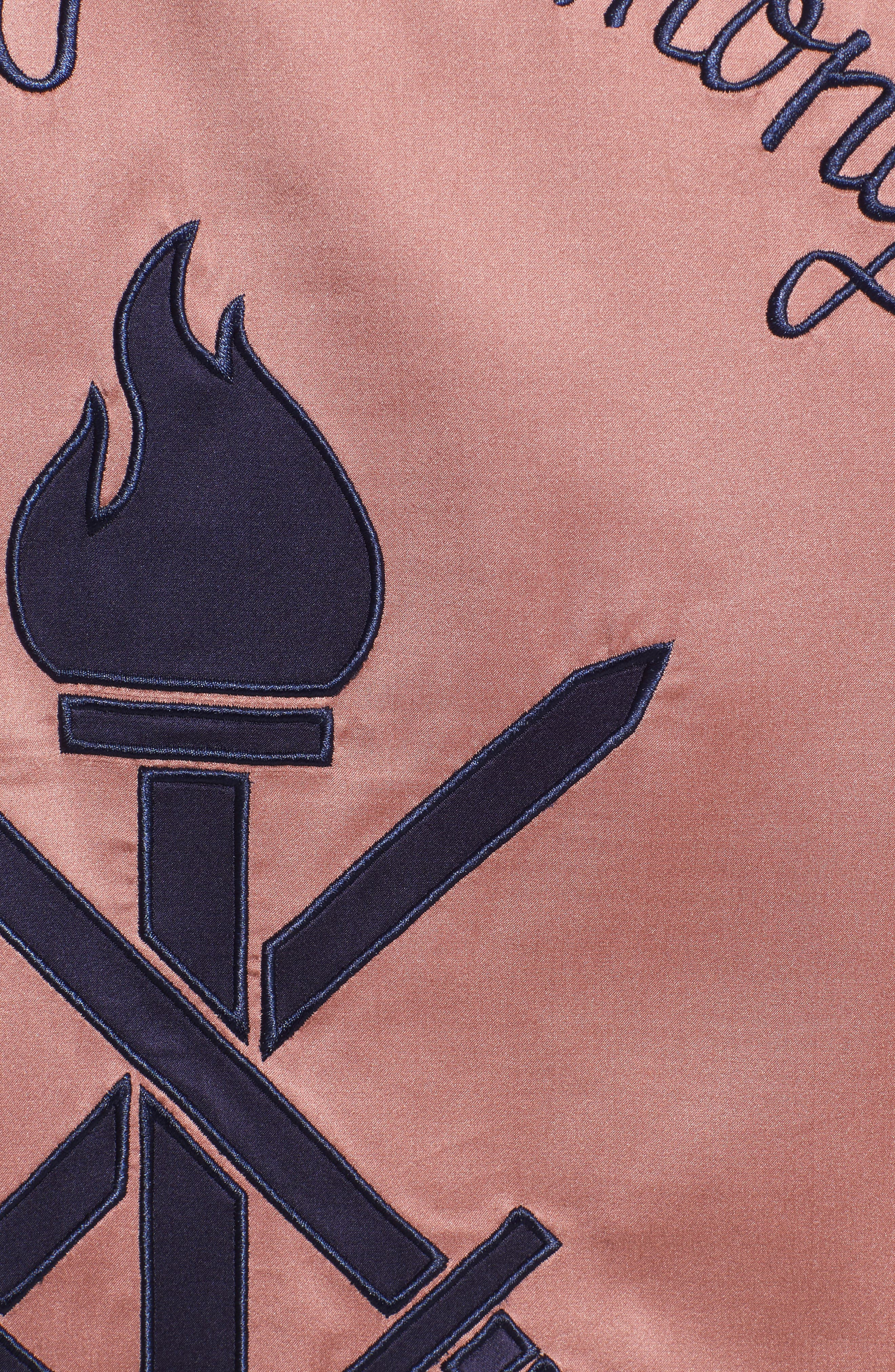 Reversible Silk Bomber Jacket,                             Alternate thumbnail 7, color,                             695